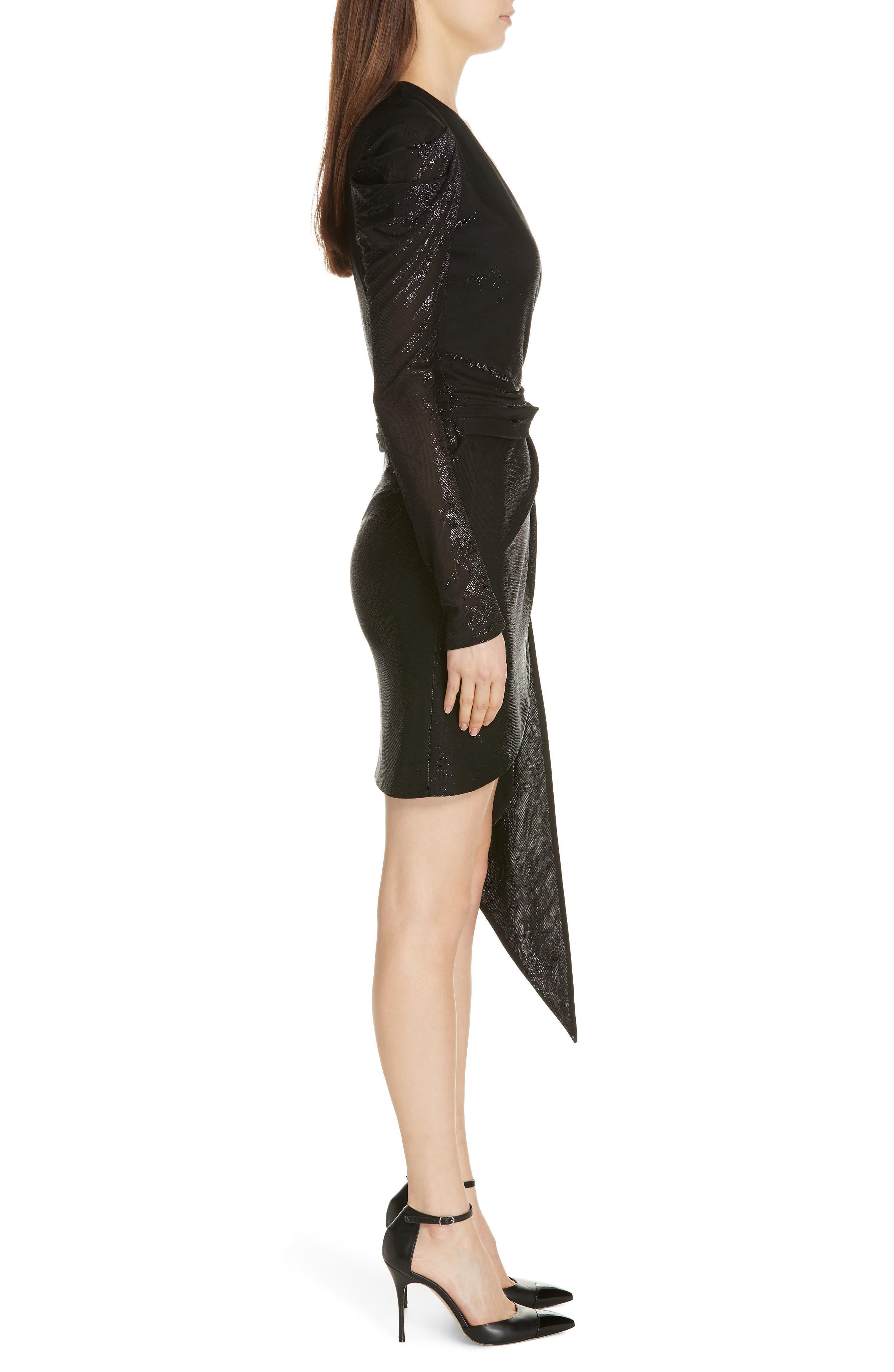 JONATHAN SIMKHAI,                             Metallic Knit Dress,                             Alternate thumbnail 3, color,                             BLACK