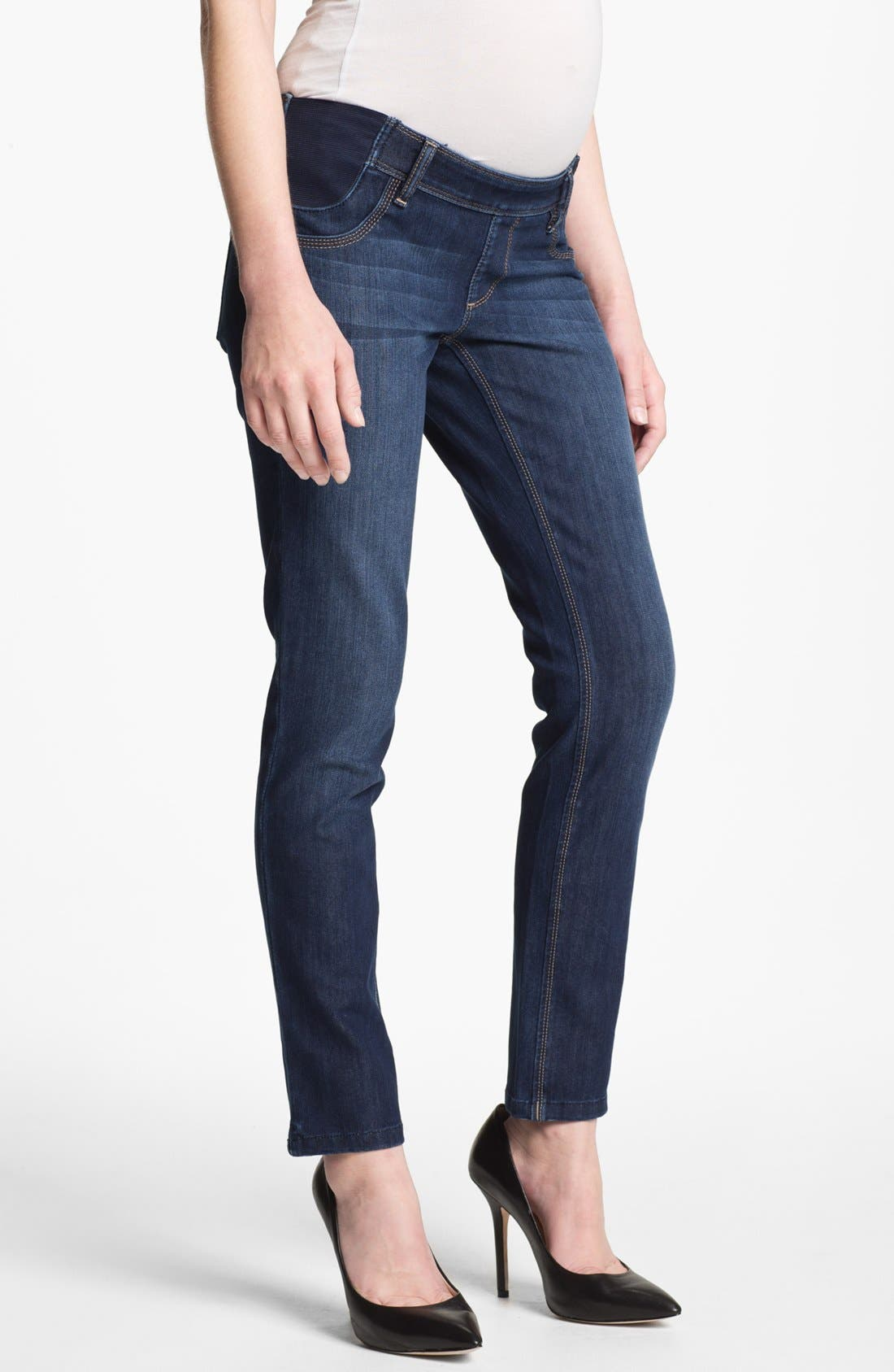 'Angel' Maternity Ankle Skinny Jeans, Main, color, 425