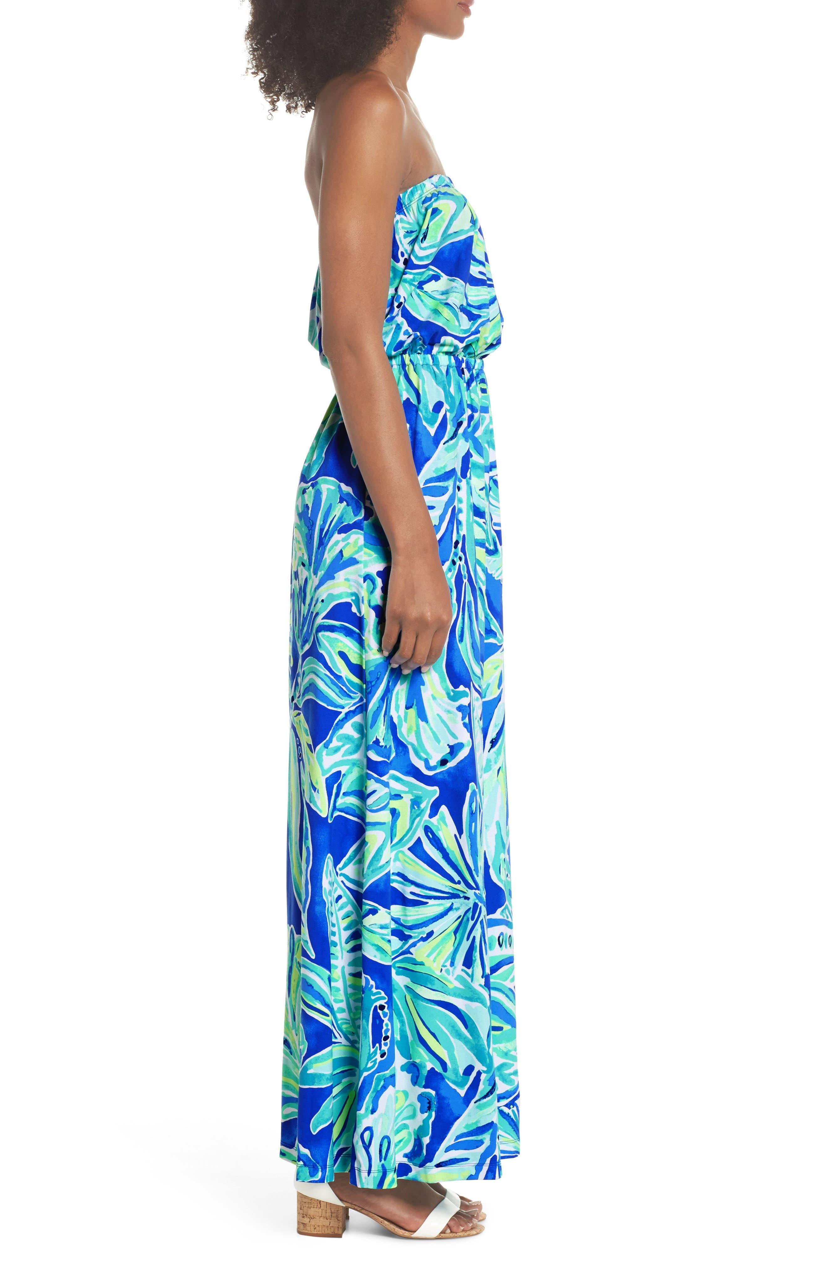 Marlisa Strapless Maxi Dress,                             Alternate thumbnail 3, color,                             440