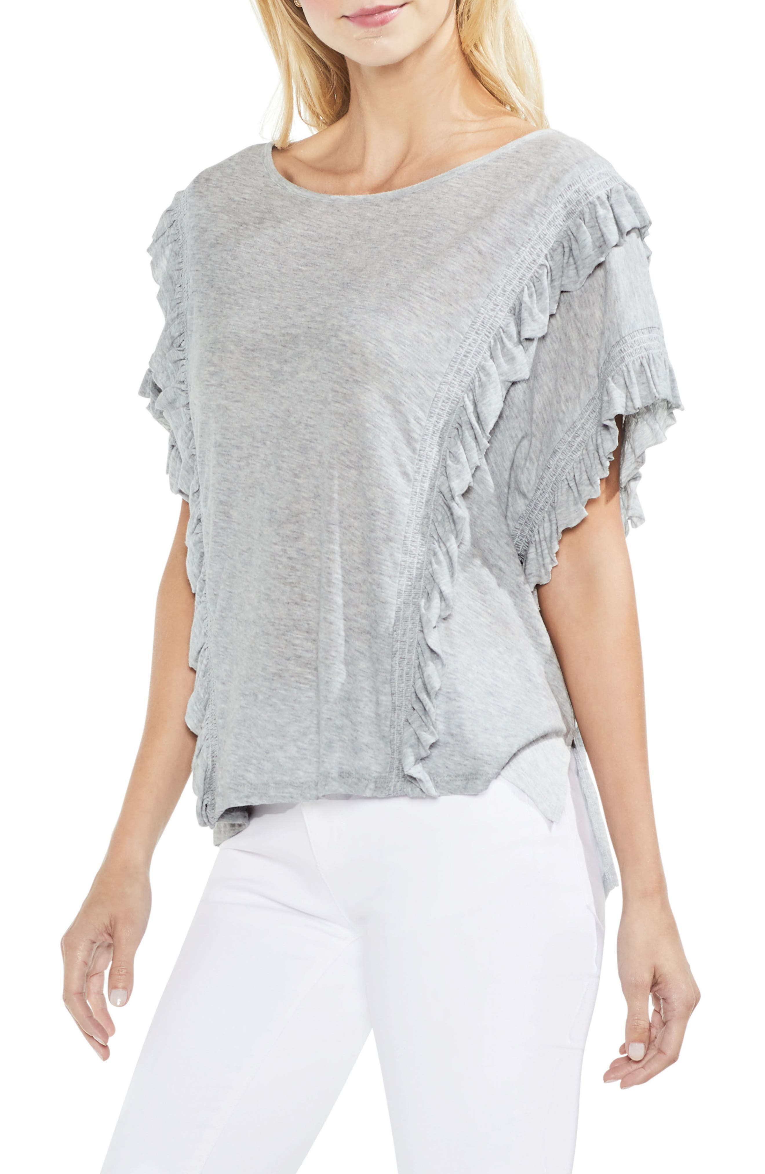Ruffle Front Top,                         Main,                         color,