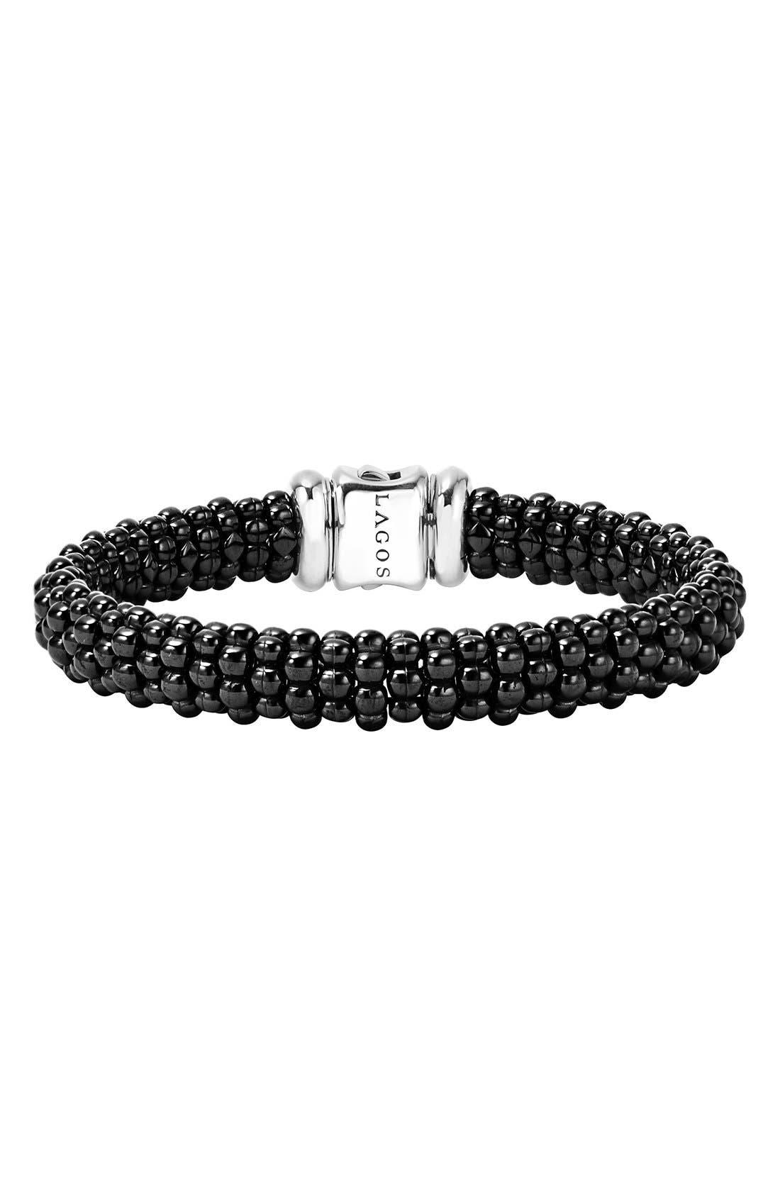 Black Caviar Bracelet,                         Main,                         color, BLACK CAVIAR
