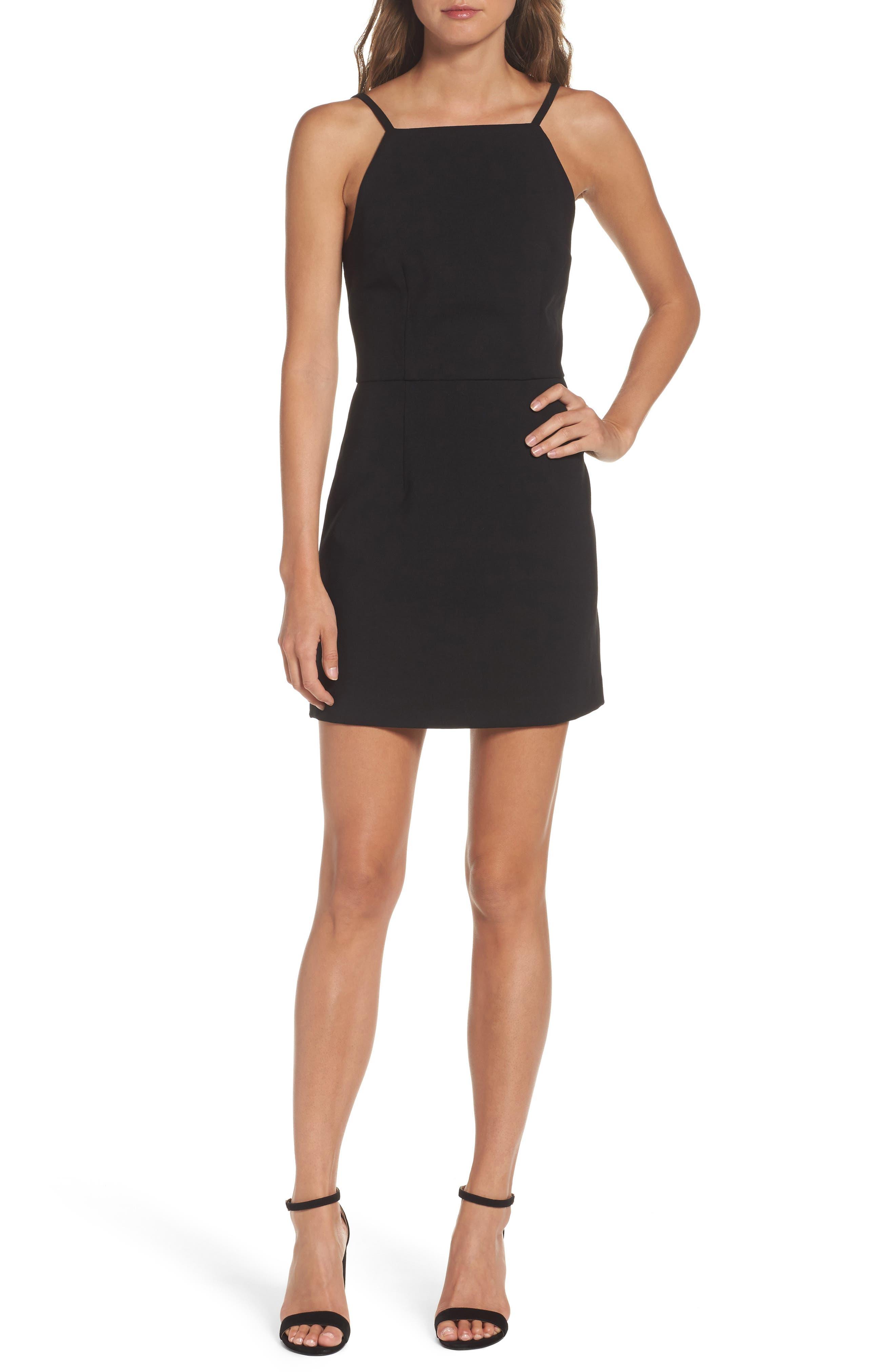 Whisper Light Sheath Dress,                         Main,                         color, BLACK