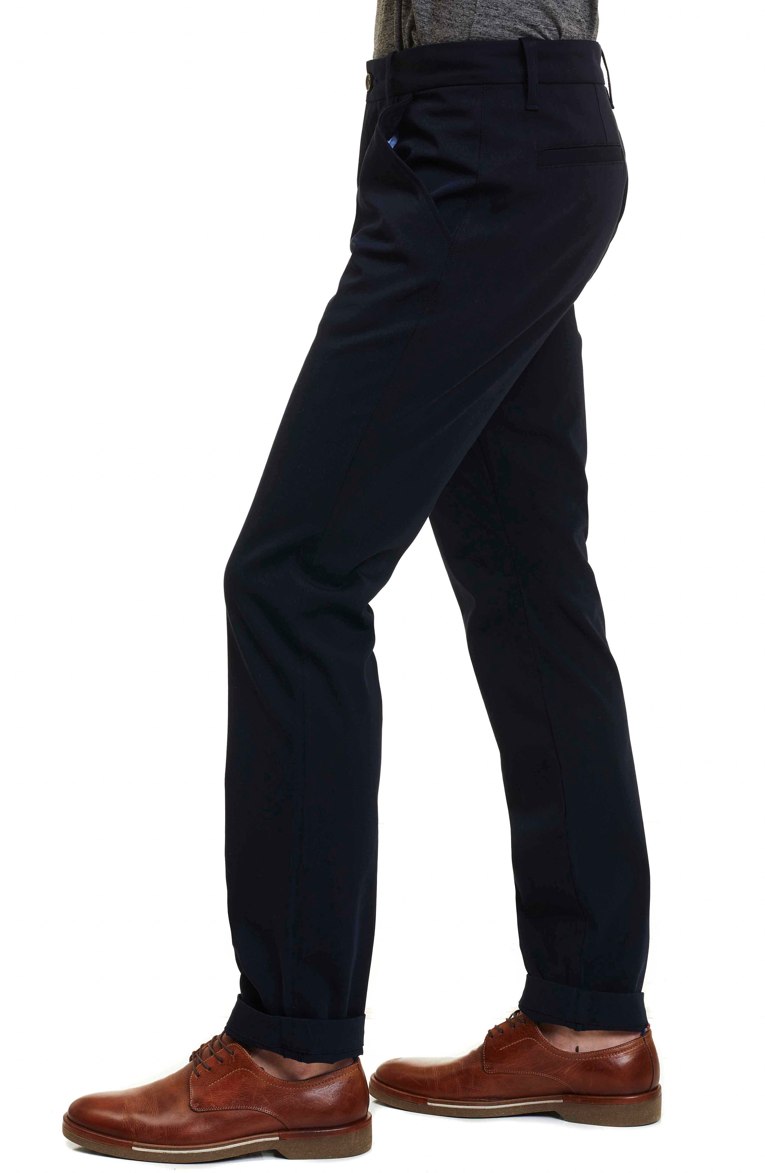 Layton Tailored Fit Stretch Cotton Pants,                             Alternate thumbnail 4, color,
