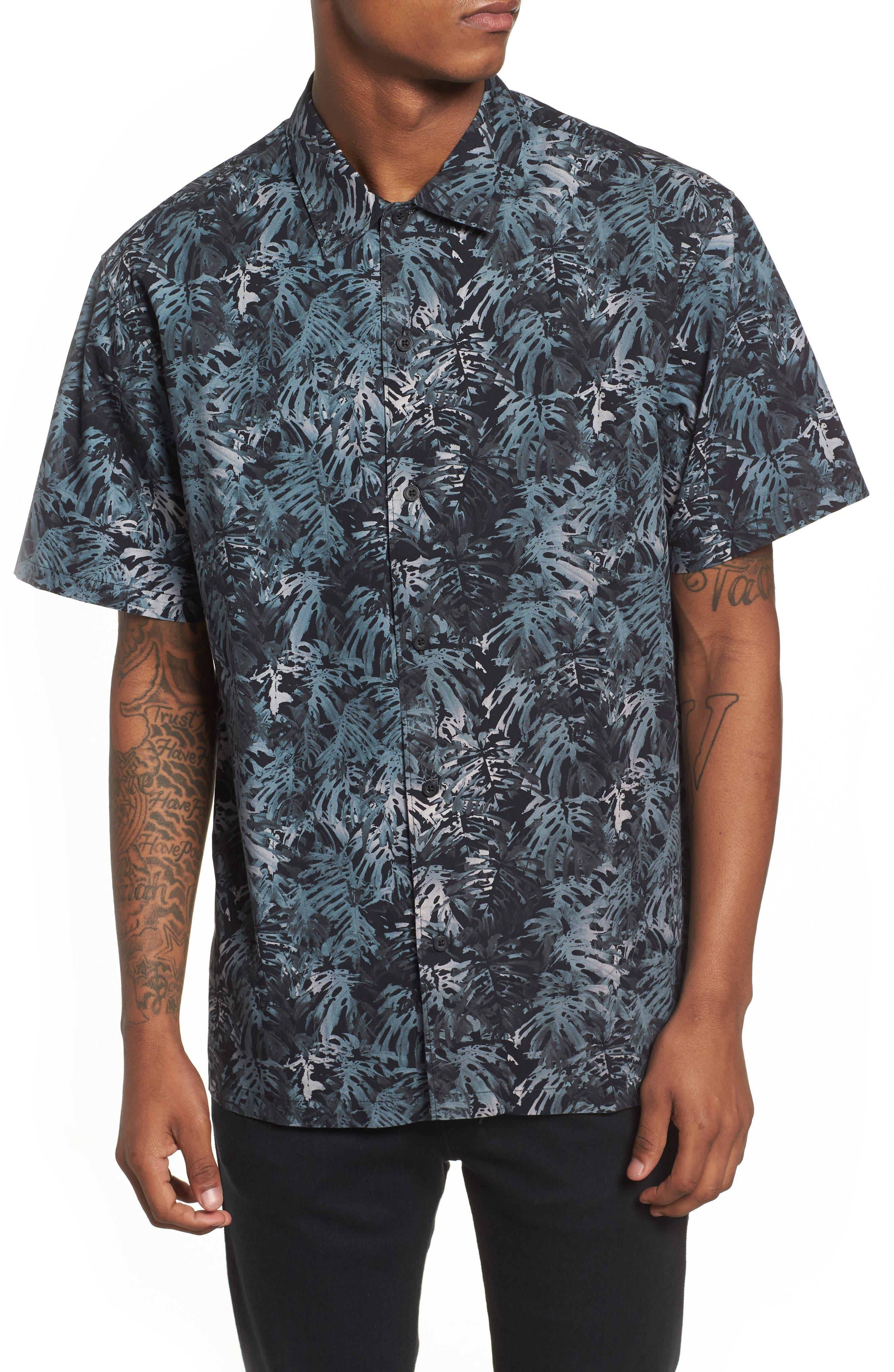 Villa Palms Short Sleeve Woven Shirt,                             Main thumbnail 1, color,                             991