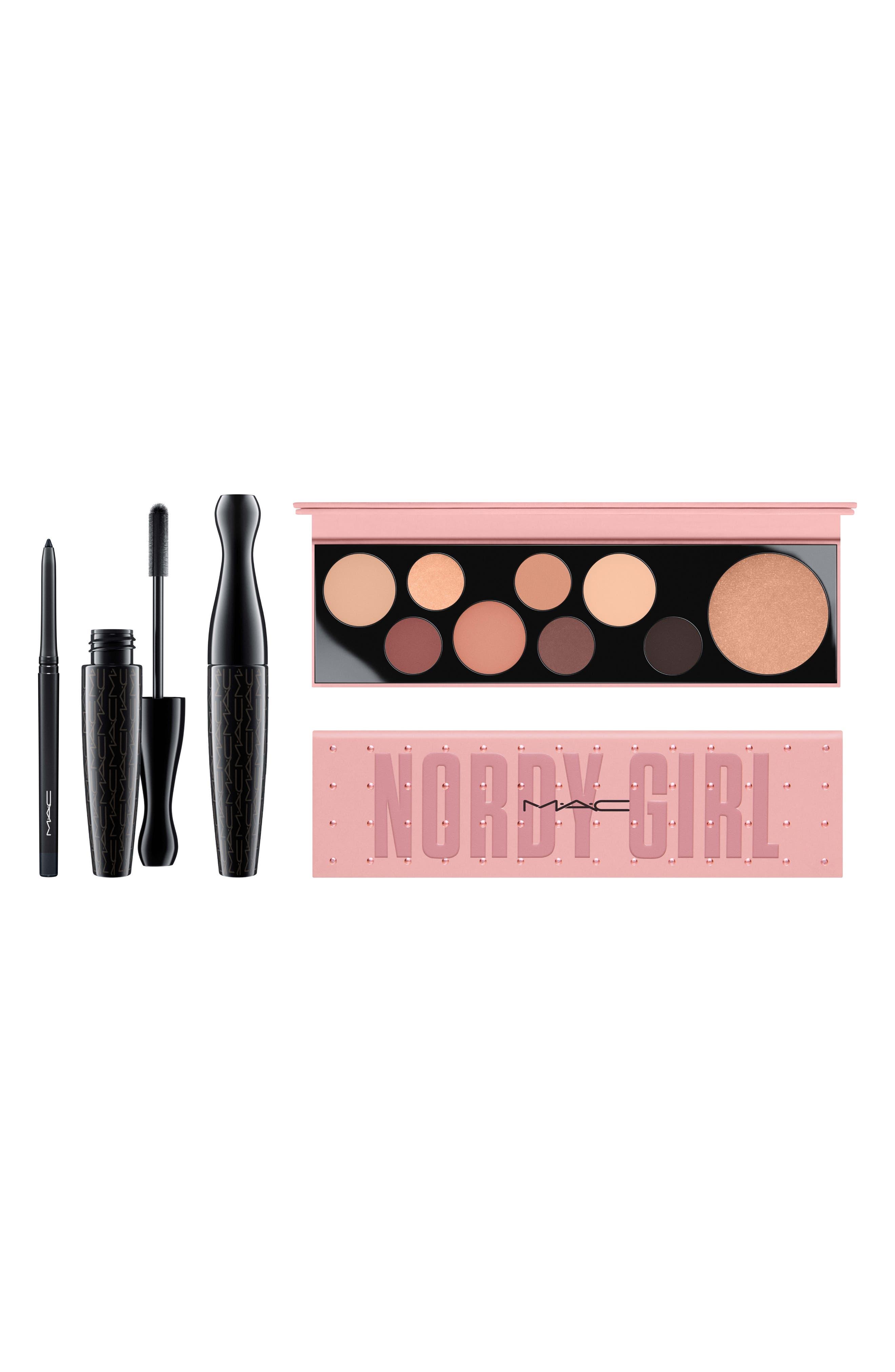 MAC Nordy Girl Matte Face & Eye Set,                             Main thumbnail 1, color,                             000