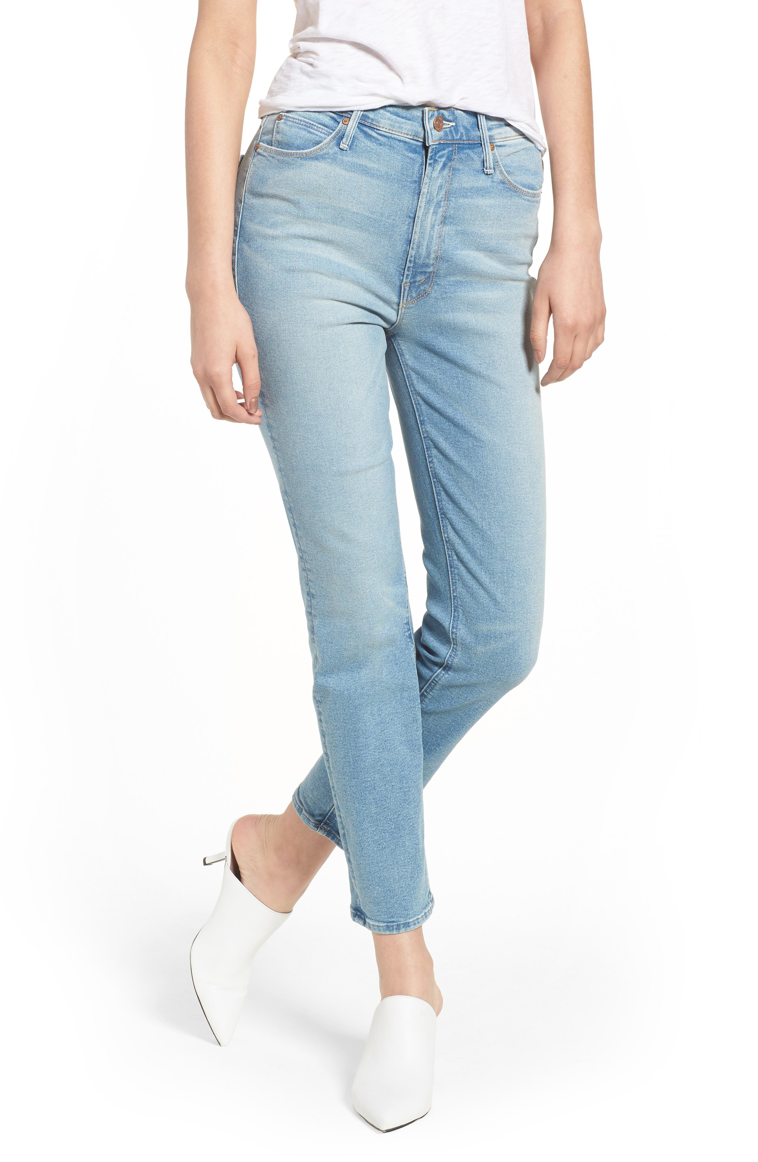 The Dazzler Ankle Straight Leg Jeans,                         Main,                         color, 400