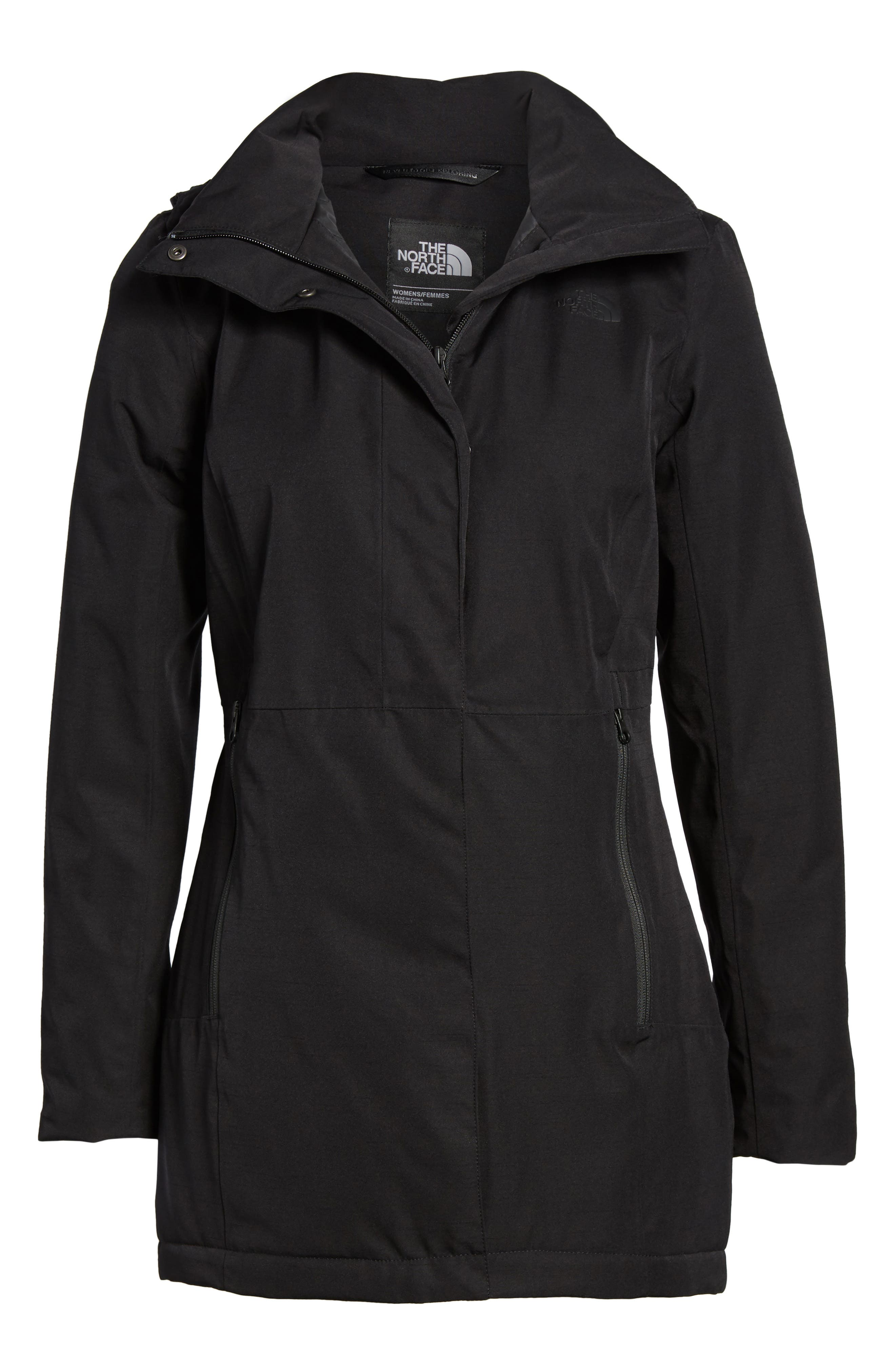 THE NORTH FACE,                             Ancha II Hooded Waterproof Parka,                             Alternate thumbnail 6, color,                             001