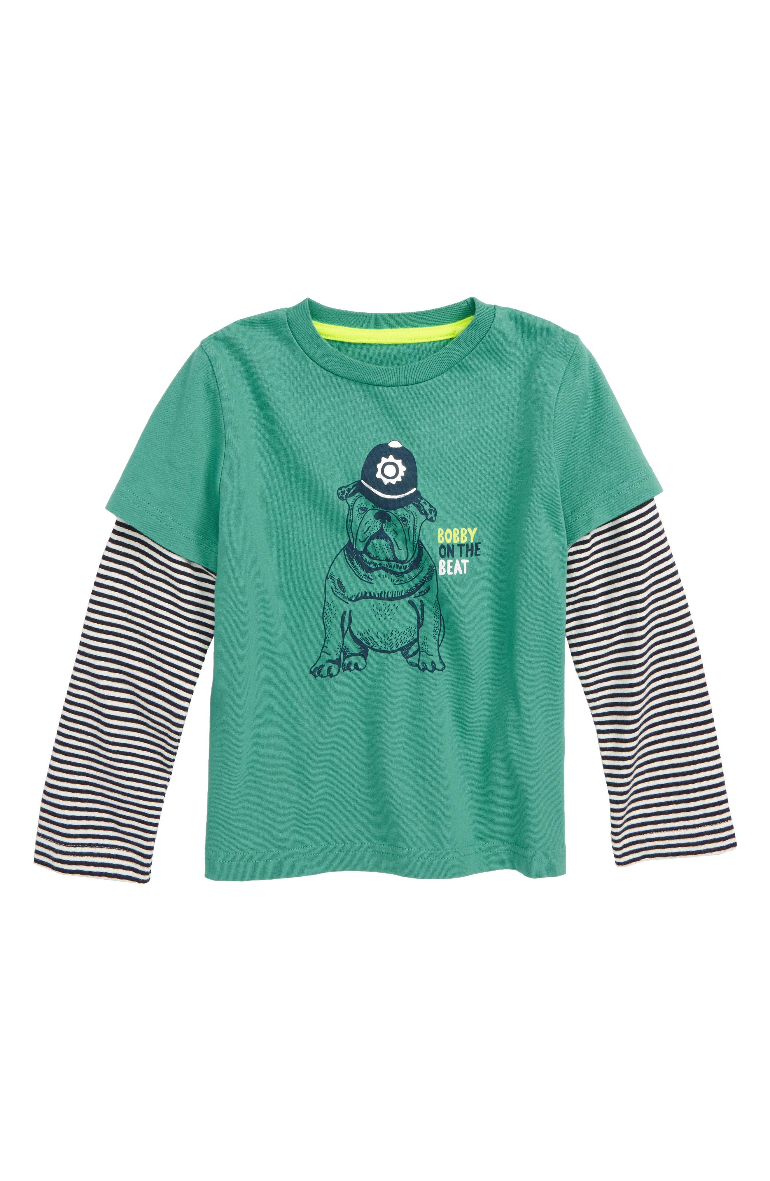 British Bulldog Layer T-Shirt, Main, color, JUNGLE GREEN