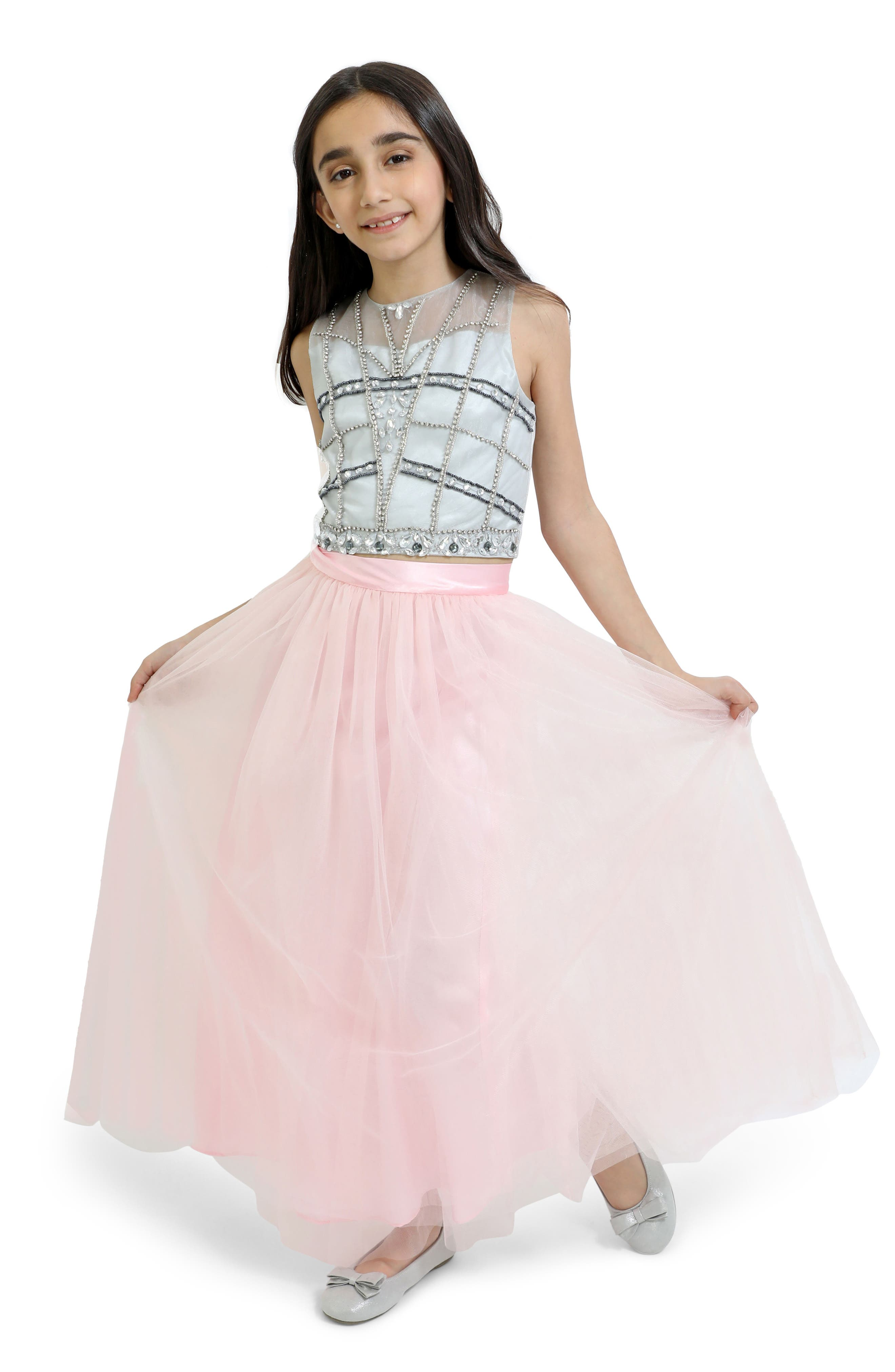 Two-Piece Dress,                         Main,                         color, PINK