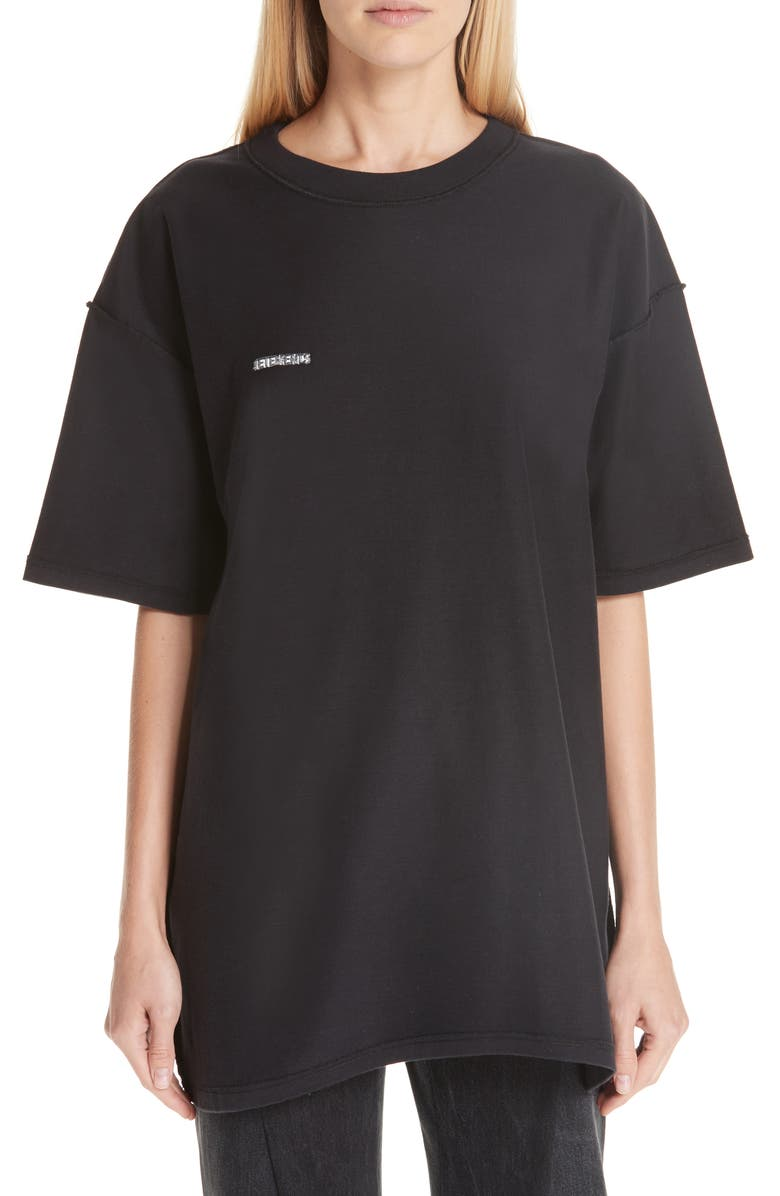 Vetements Cottons OVERSIZED INSIDE OUT TEE