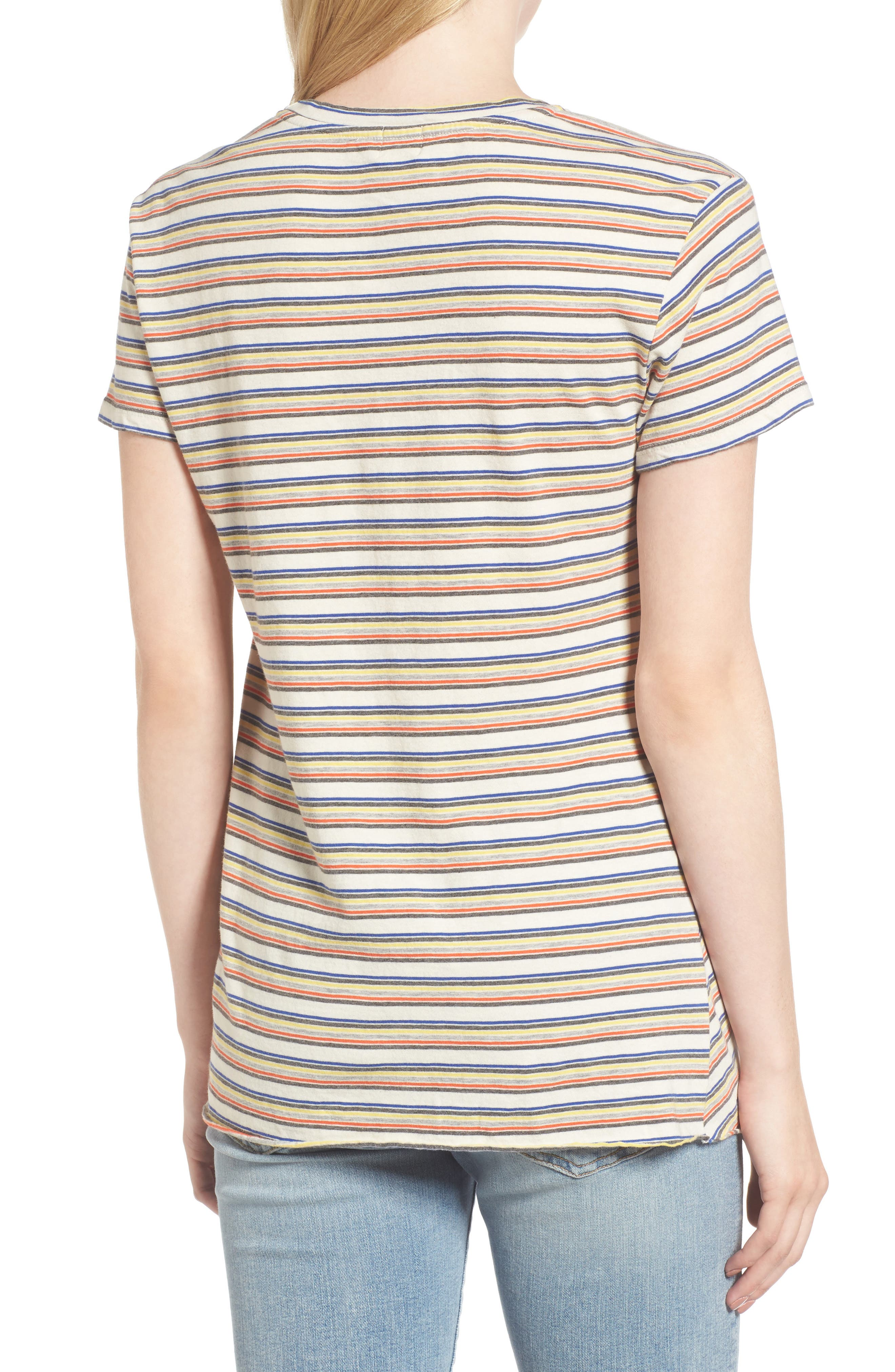 Stripe Twist Front Tee,                             Alternate thumbnail 2, color,