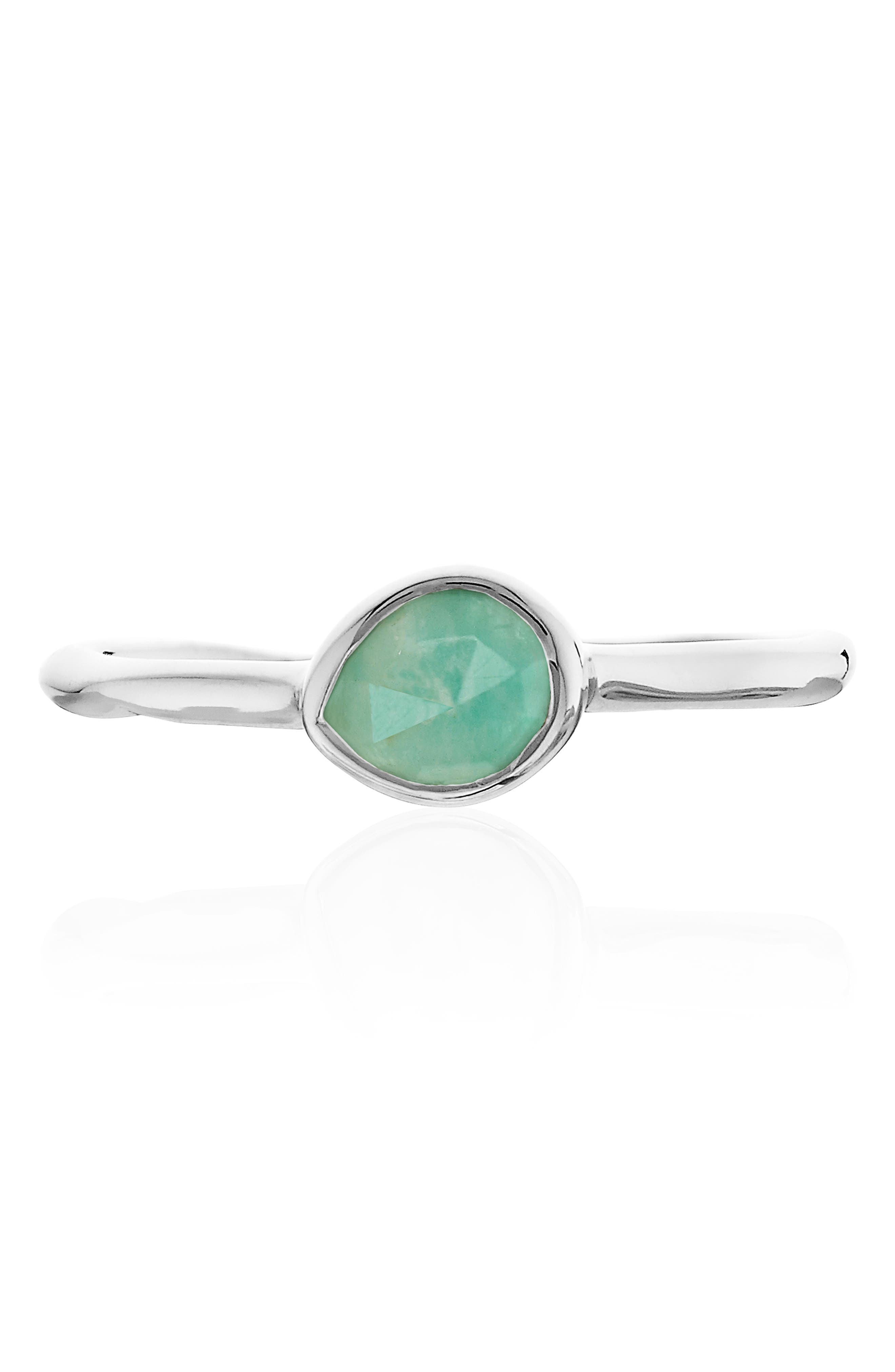 Siren Small Stacking Ring,                             Alternate thumbnail 4, color,                             SILVER/ AMAZONITE