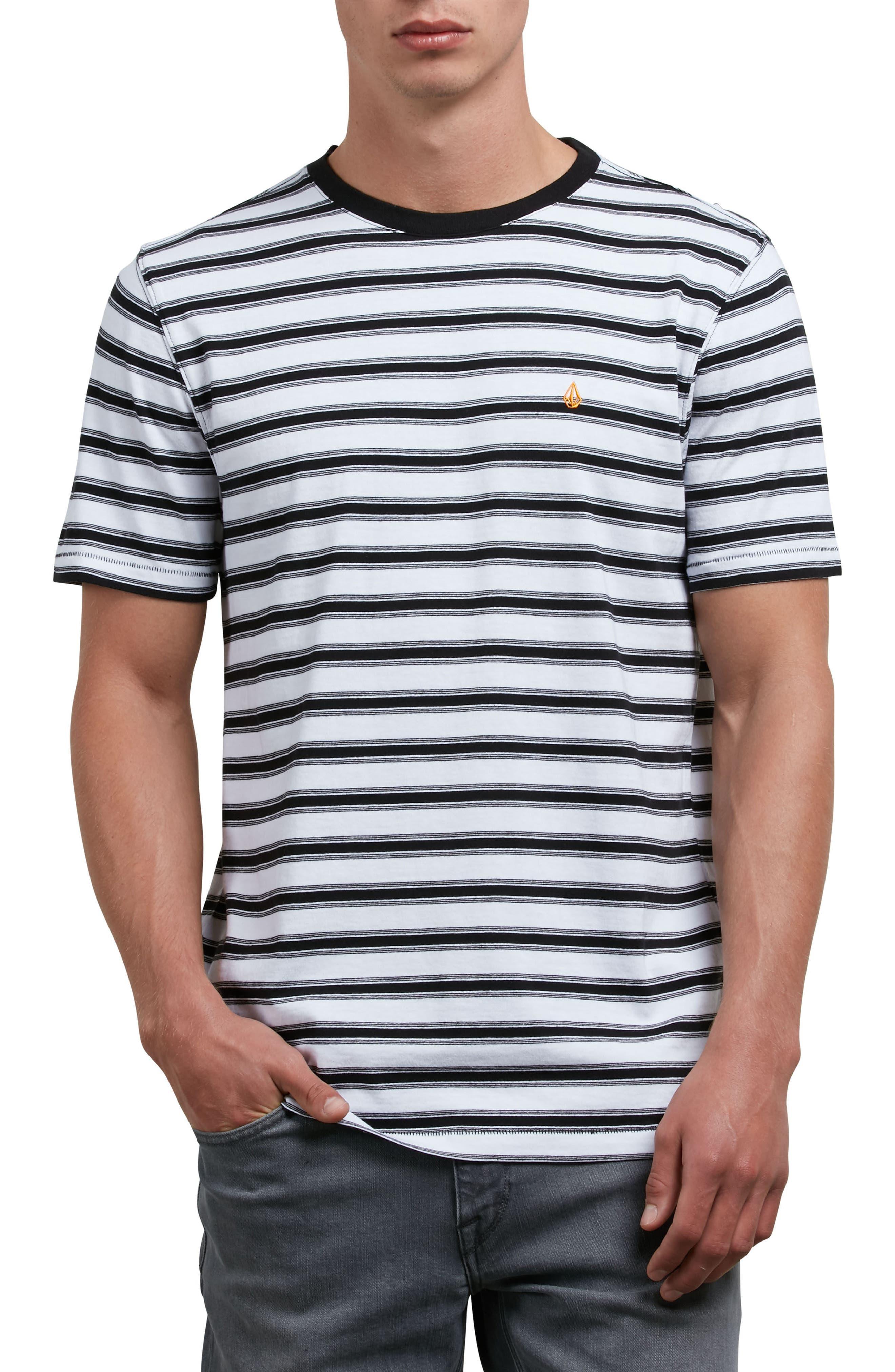 Briggs Stripe Crewneck T-Shirt,                         Main,                         color, 100