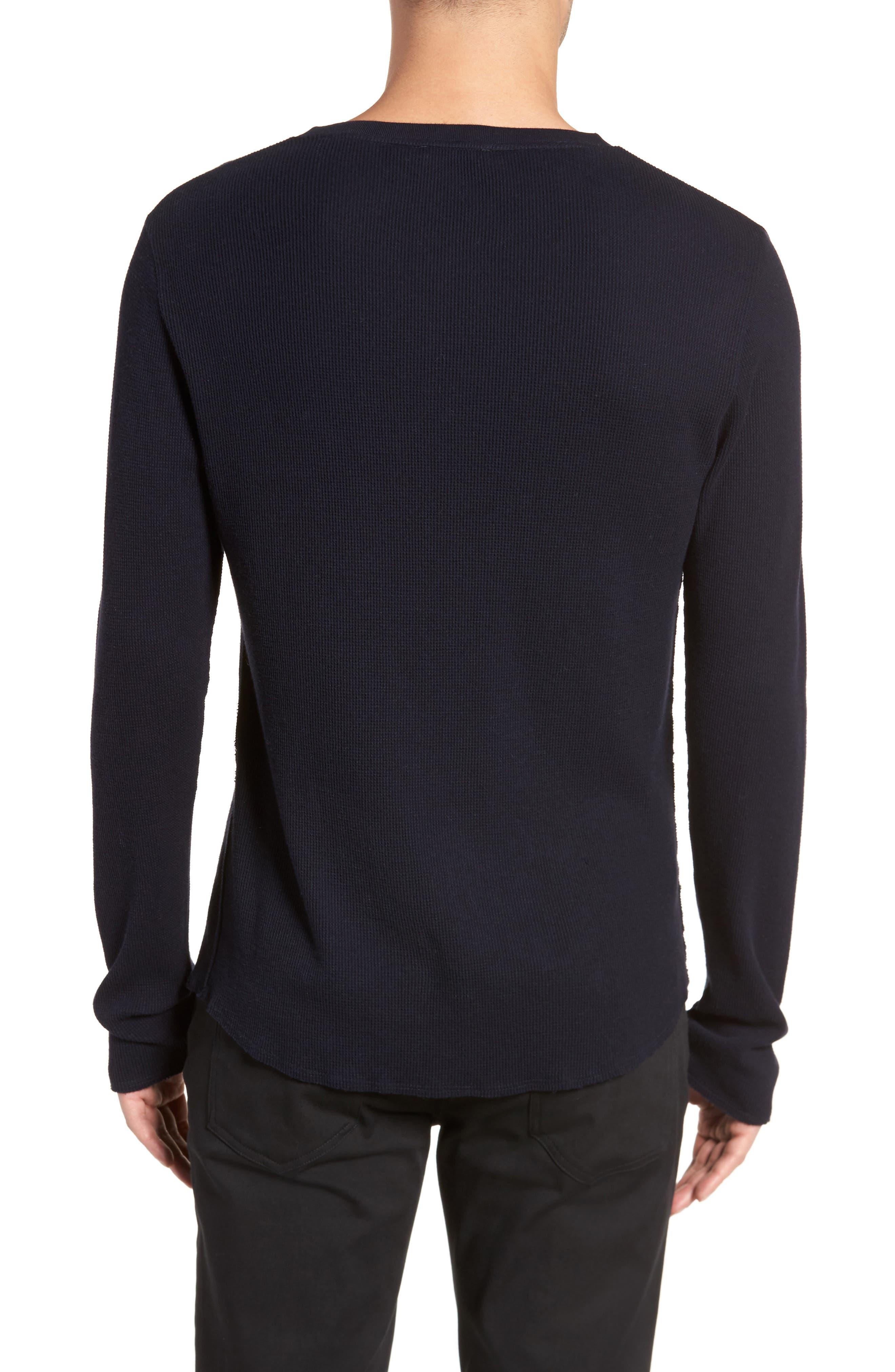 Thermal Knit Long Sleeve Henley T-Shirt,                             Alternate thumbnail 4, color,