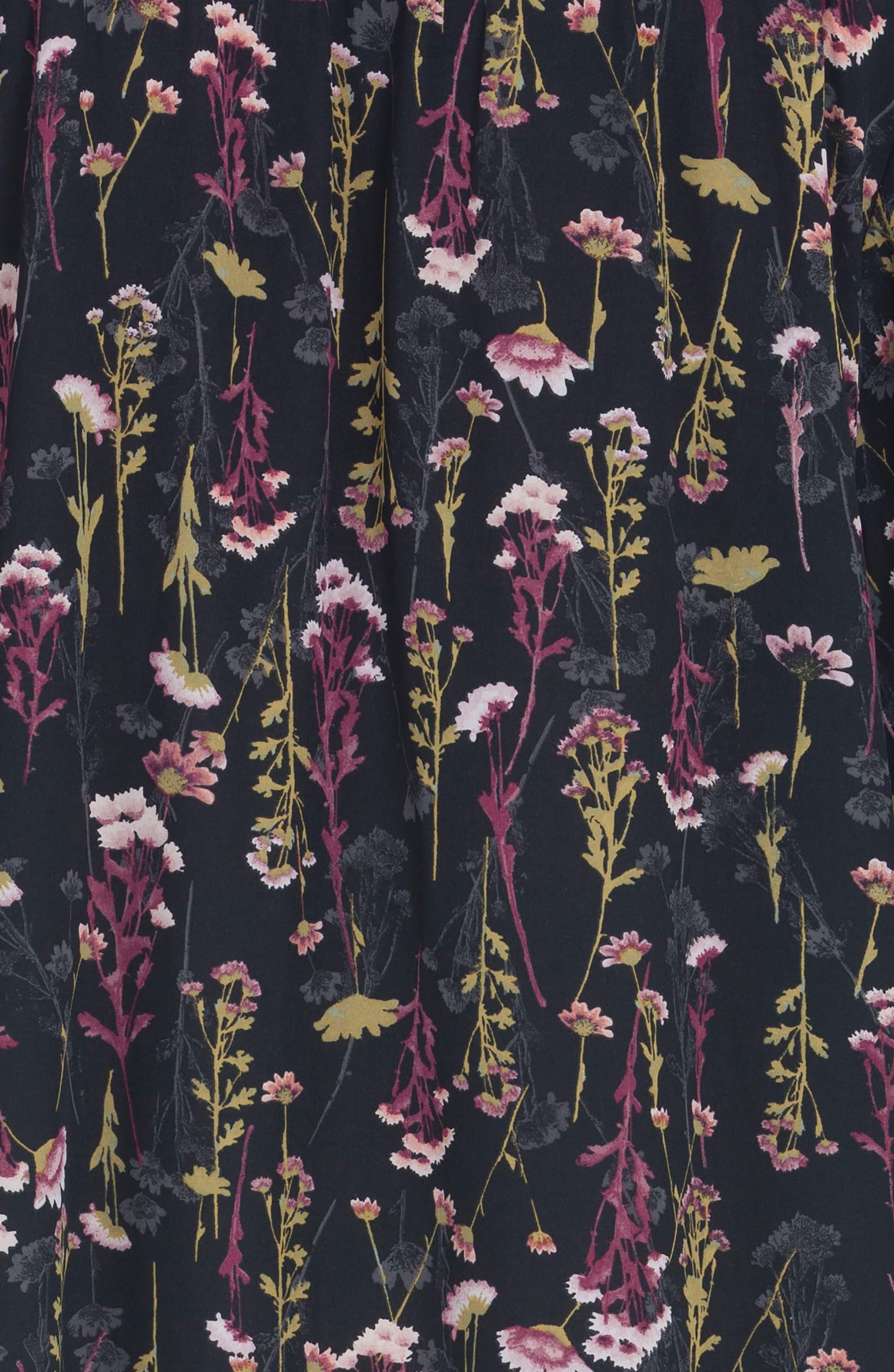 Floral Print Duster,                             Alternate thumbnail 4, color,