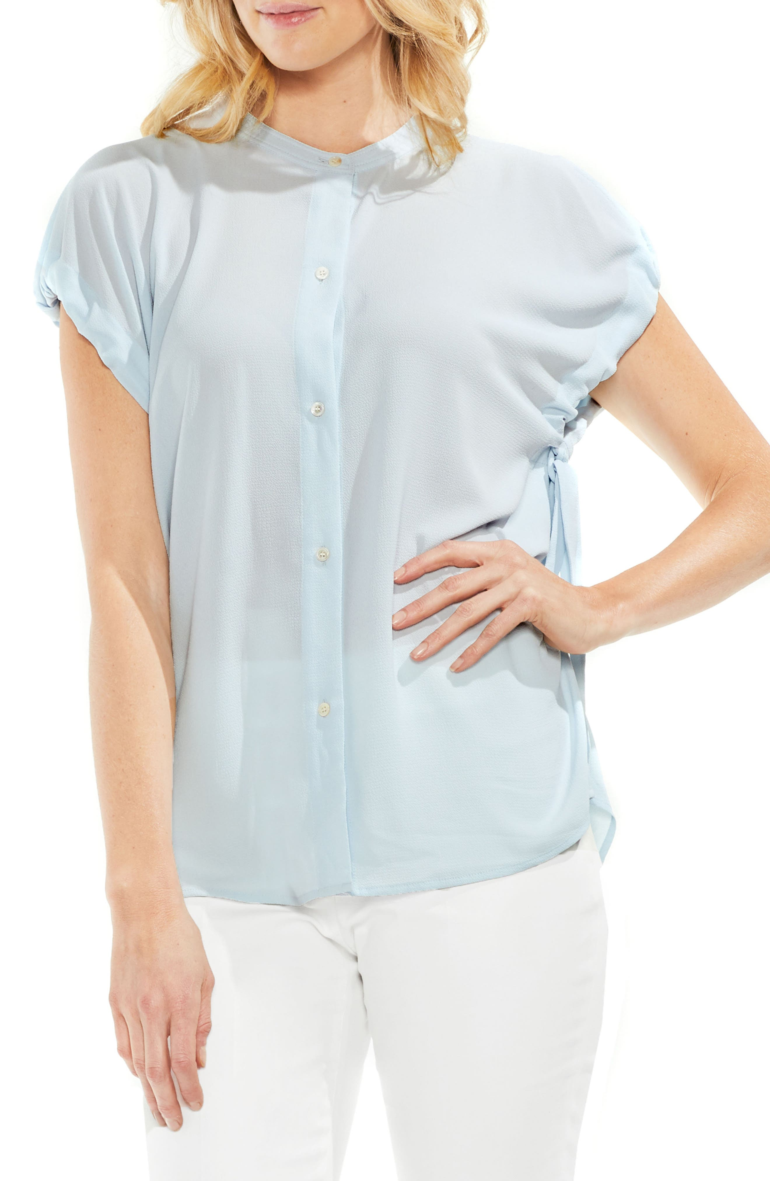 Tie Sleeve Crepe Blouse,                             Main thumbnail 1, color,                             466