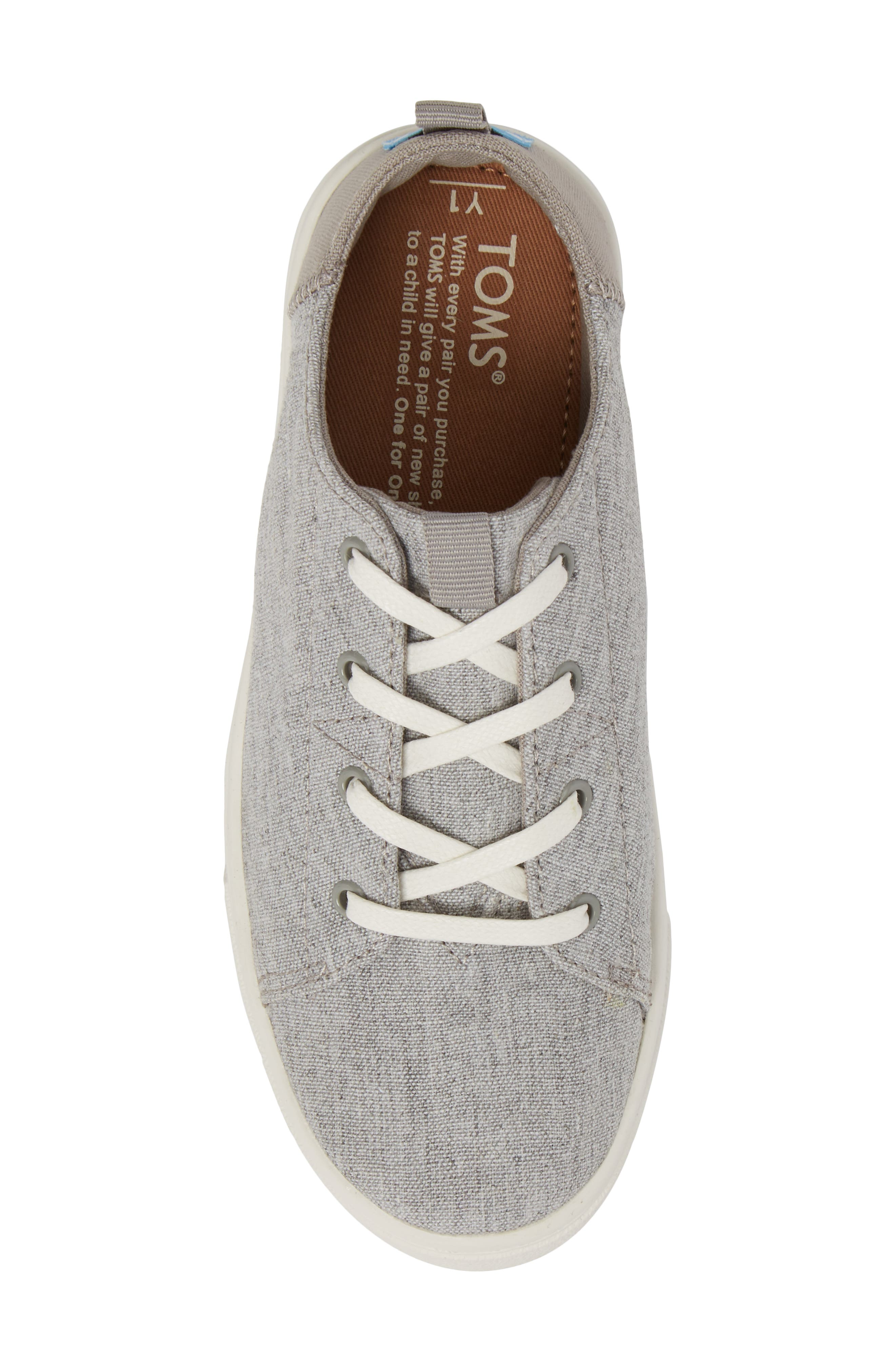Lenny Sneaker,                             Alternate thumbnail 5, color,                             DRIZZLE GREY SLUB CHAMBRAY