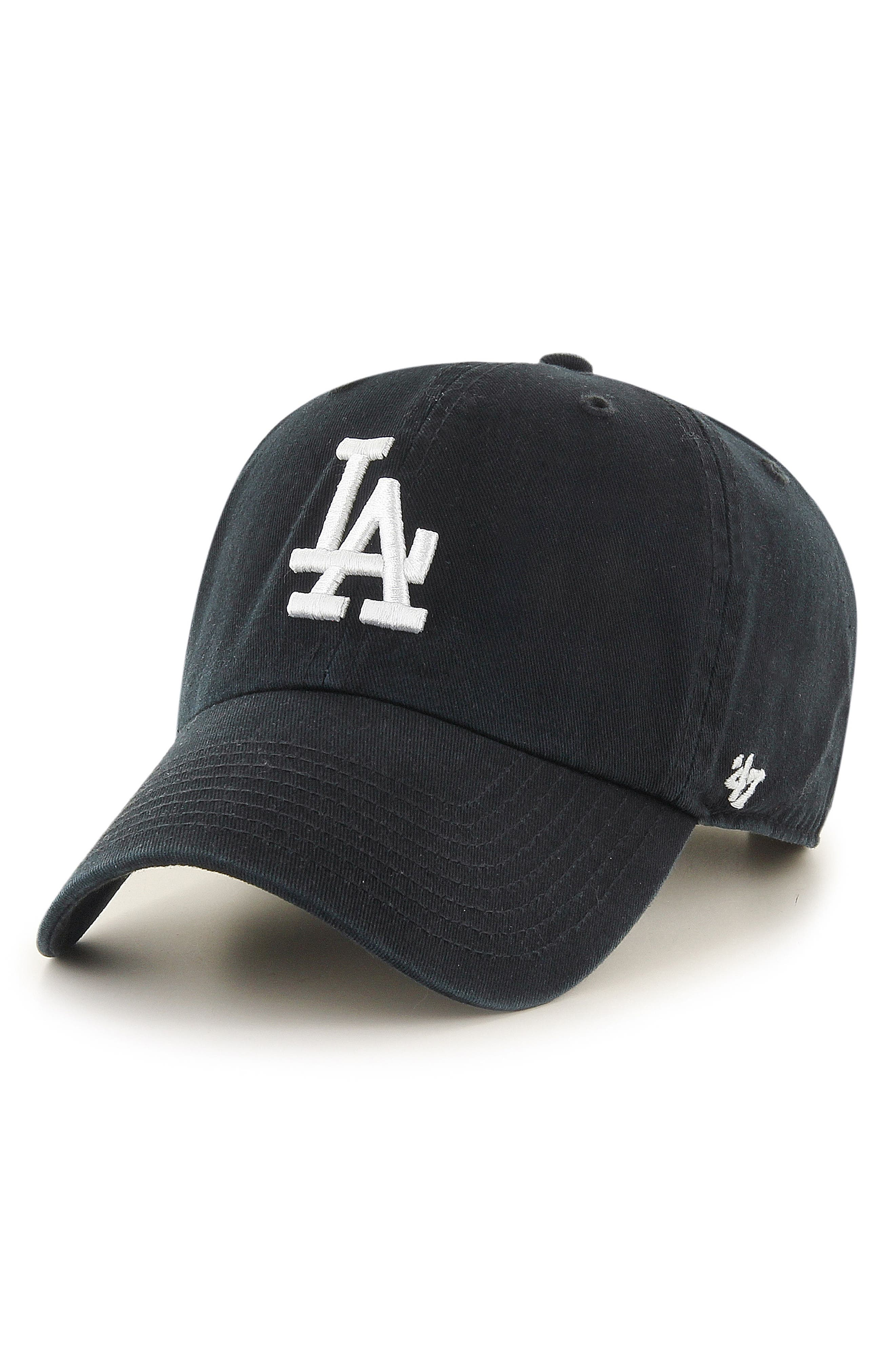 Clean Up LA Dodgers Baseball Cap,                         Main,                         color,