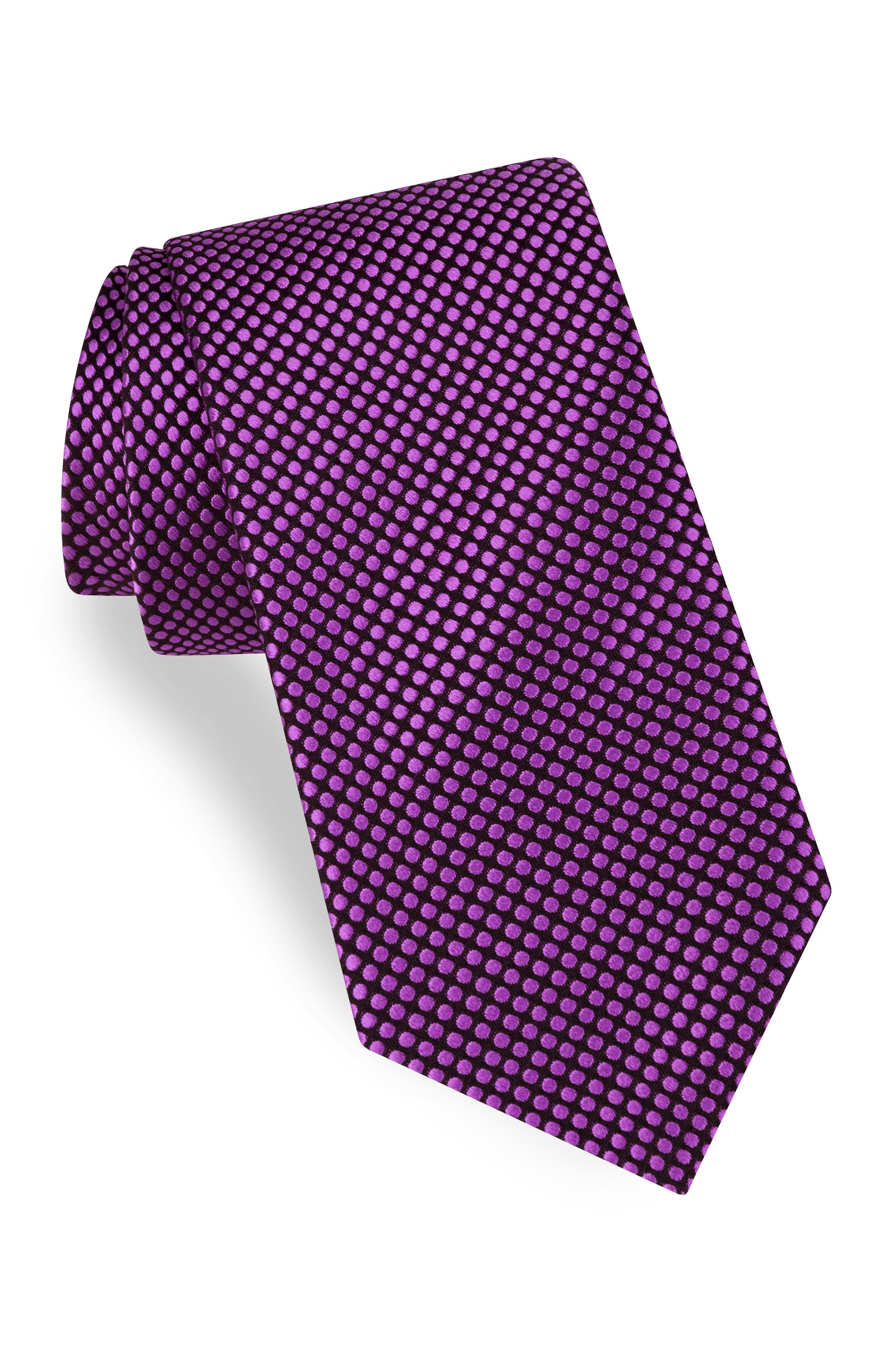 Dot Silk Tie,                             Main thumbnail 4, color,