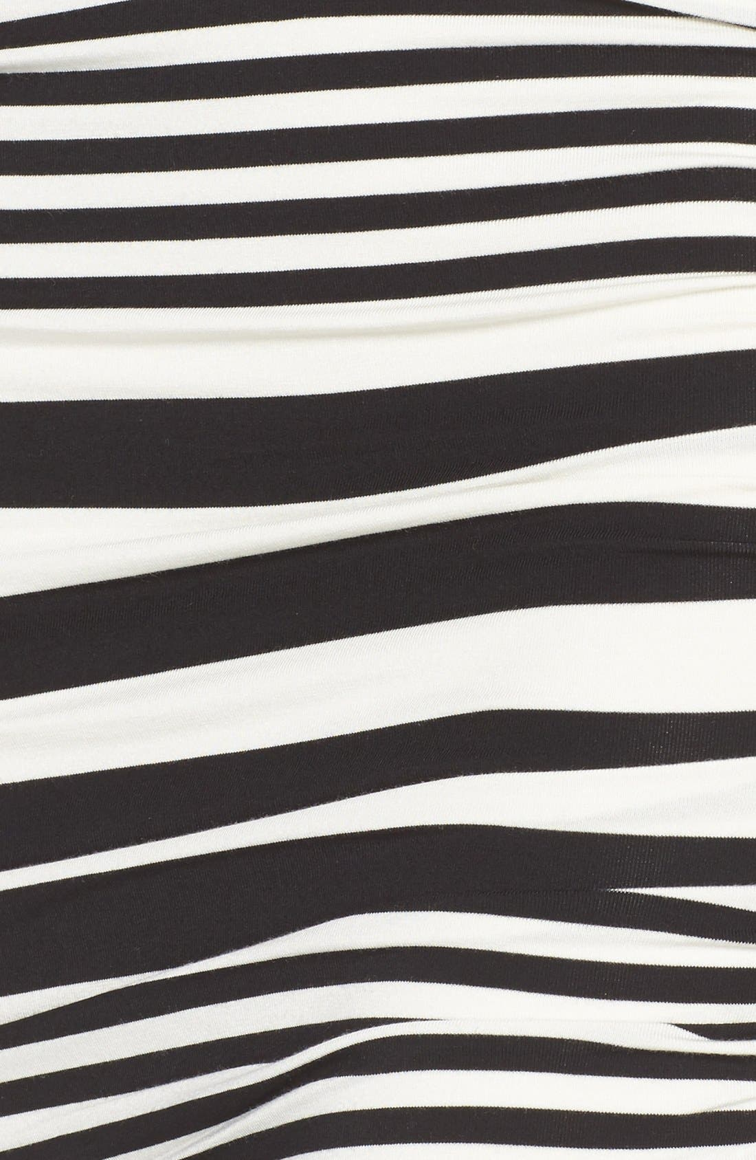 Stripe Ruched Jersey Tank Dress,                             Alternate thumbnail 4, color,                             001