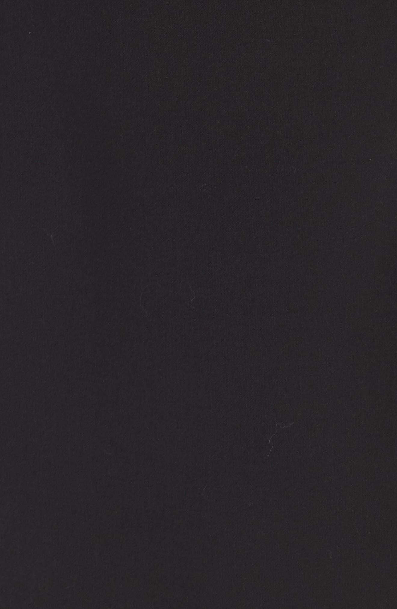 FRENCH CONNECTION,                             Whisper Light Mesh Sleeve Dress,                             Alternate thumbnail 5, color,                             BLACK