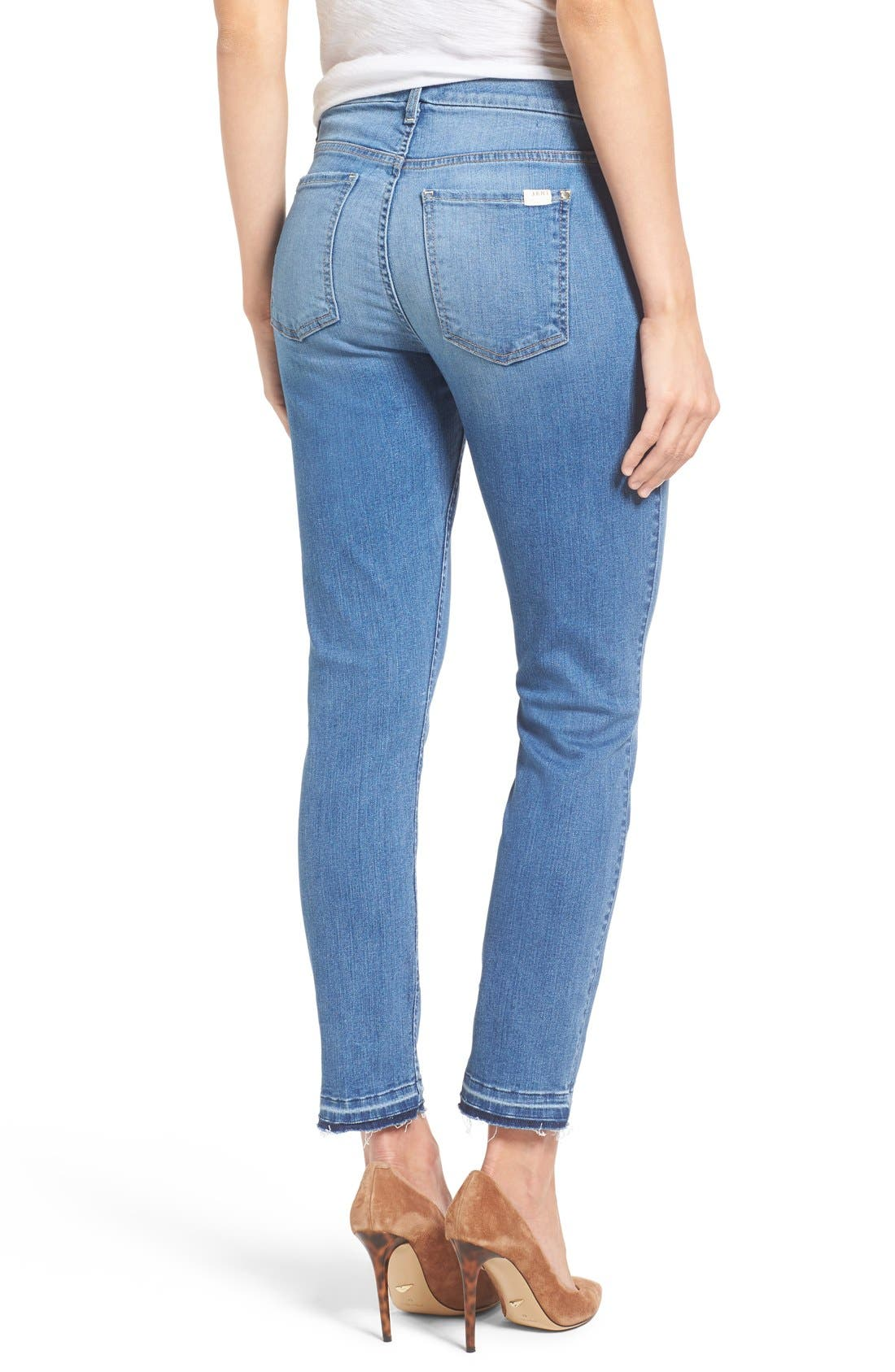 Release Hem Stretch Ankle Skinny Jeans,                             Alternate thumbnail 10, color,