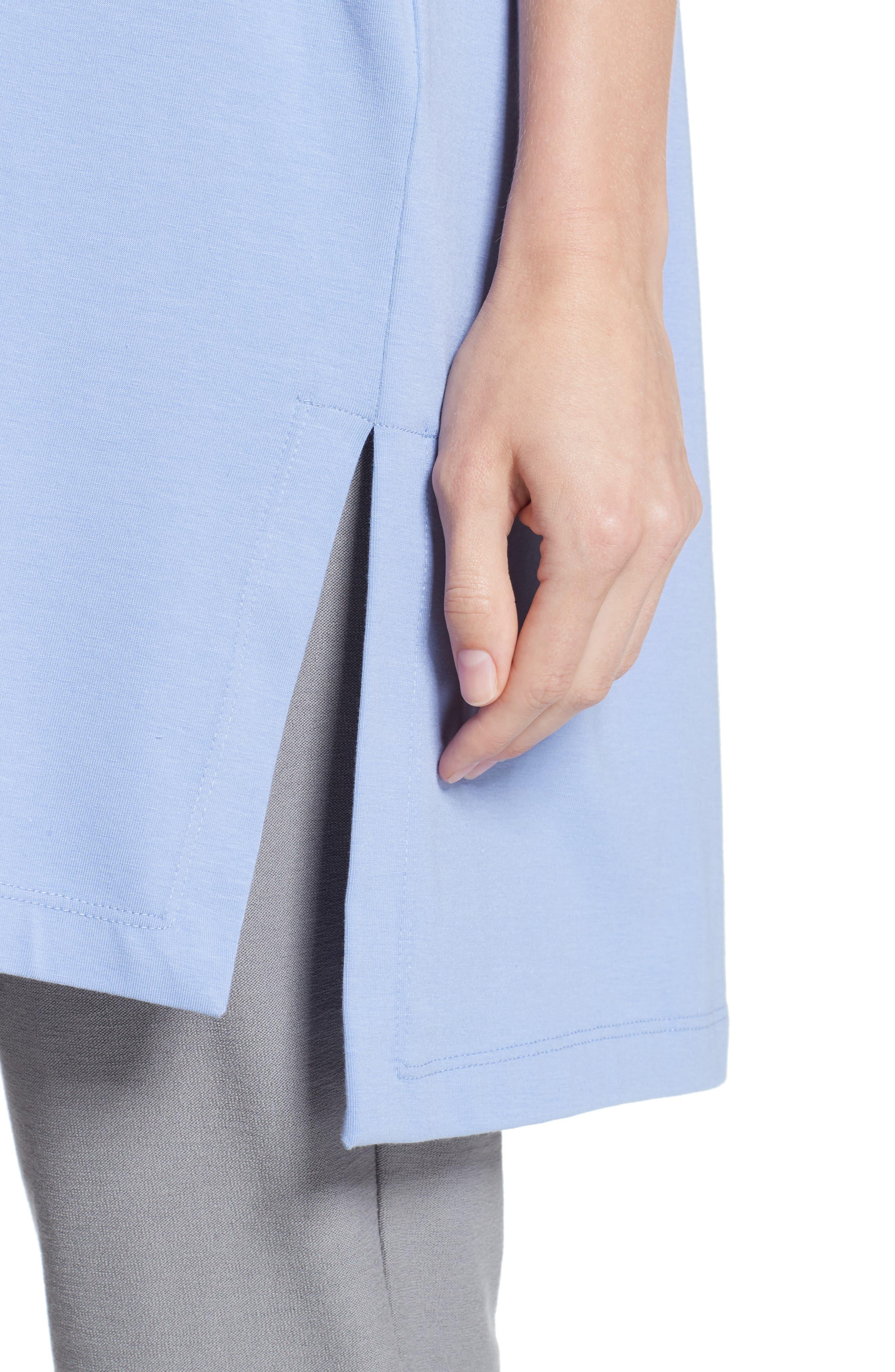 Stretch Organic Cotton Jersey Tunic,                             Alternate thumbnail 21, color,