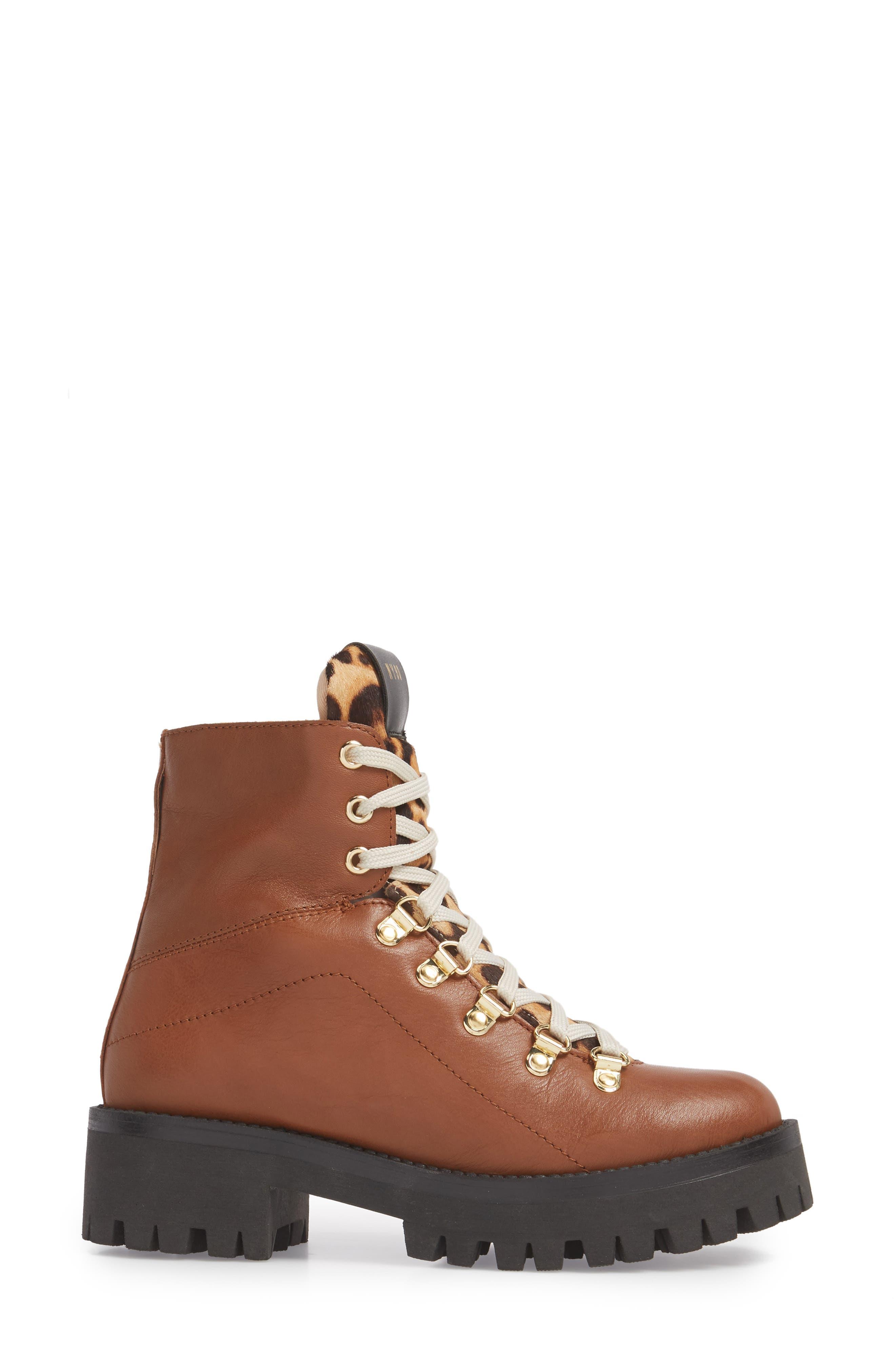 STEVE MADDEN,                             Boom Hiker Boot with Genuine Calf Hair,                             Alternate thumbnail 3, color,                             200