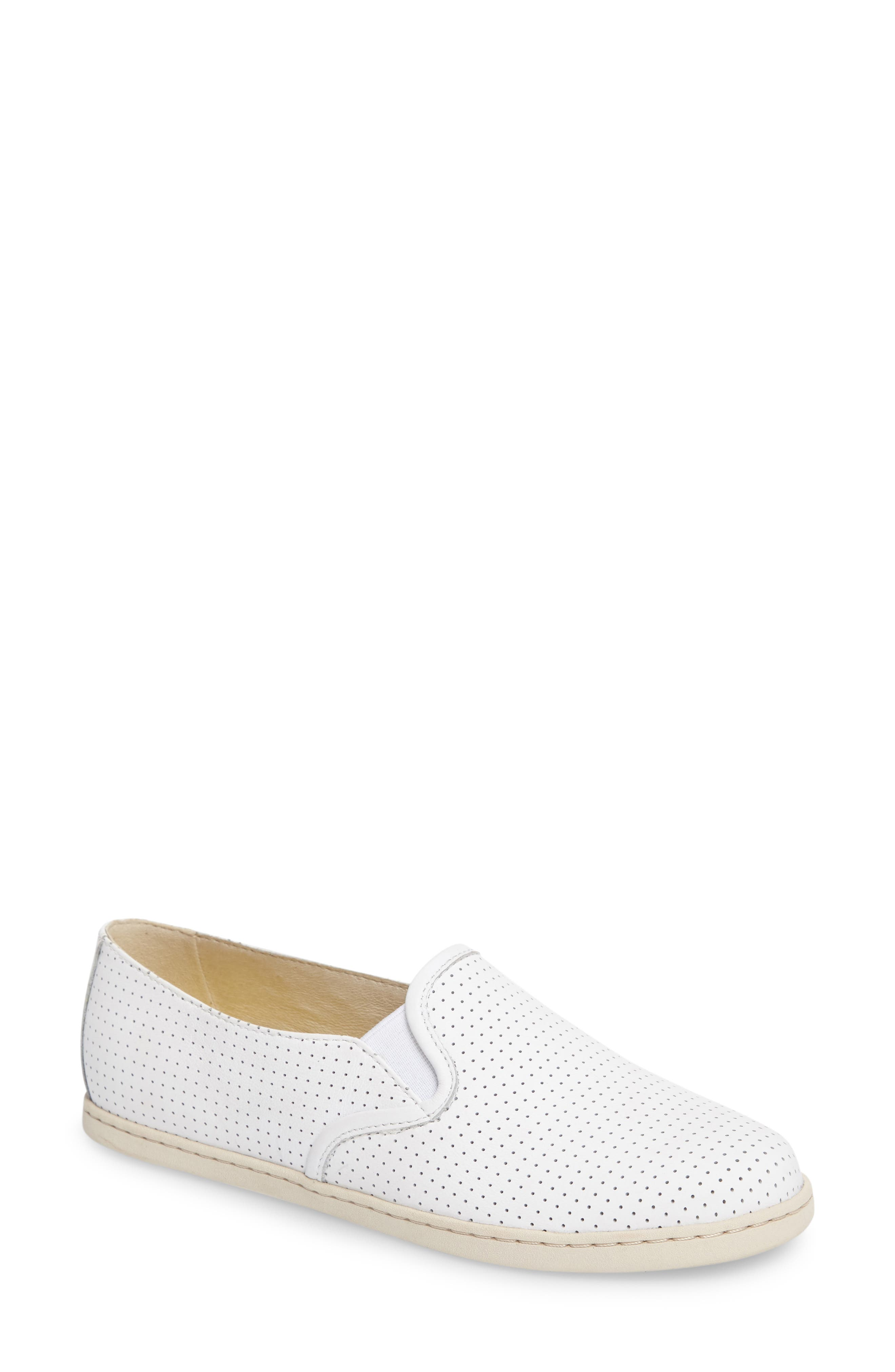 Uno Perforated Slip-On Sneaker,                             Main thumbnail 1, color,                             100