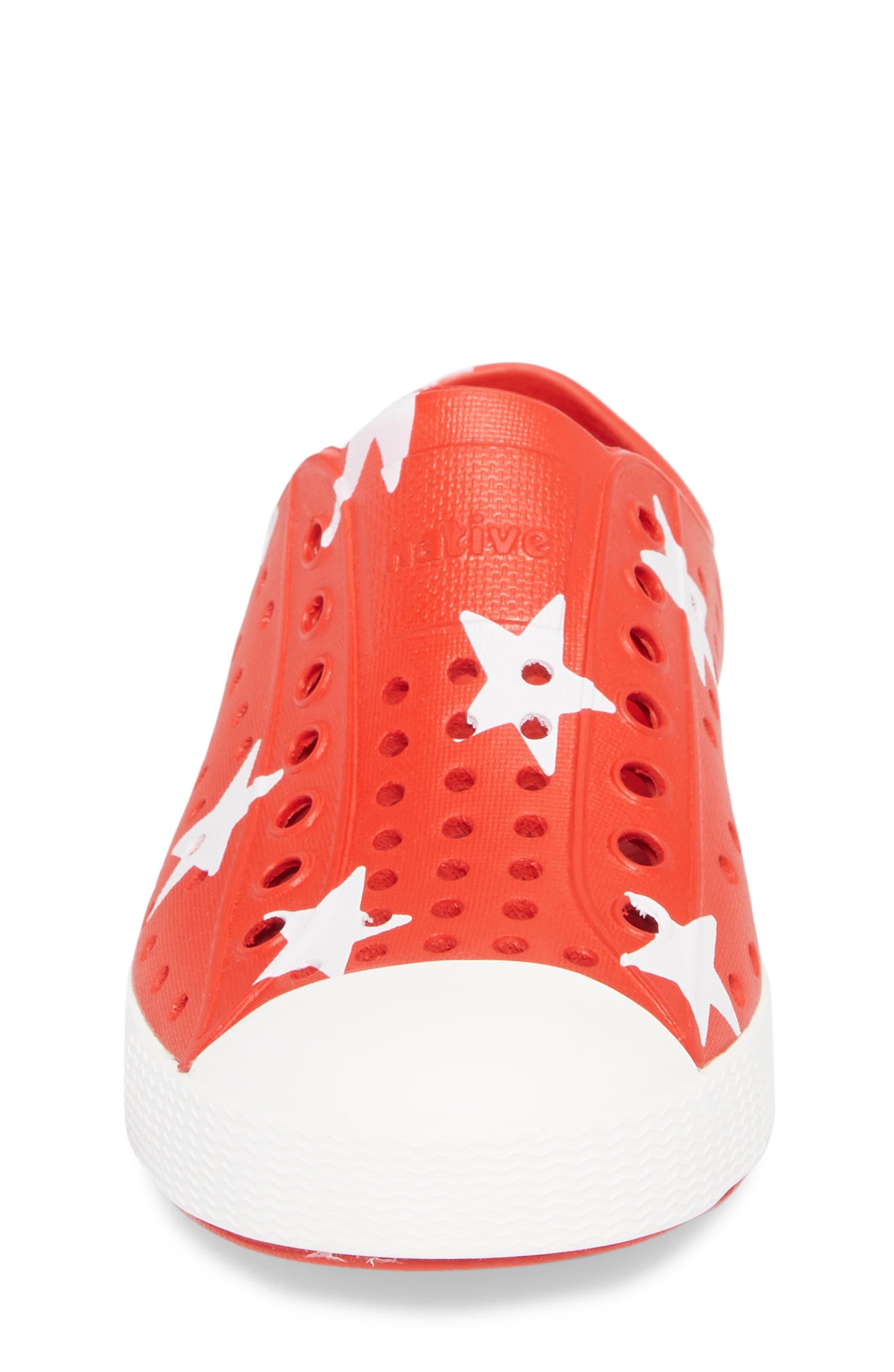 Jefferson Quartz Slip-On Sneaker,                             Alternate thumbnail 4, color,                             TORCH RED/ BONE WHITE/ STAR