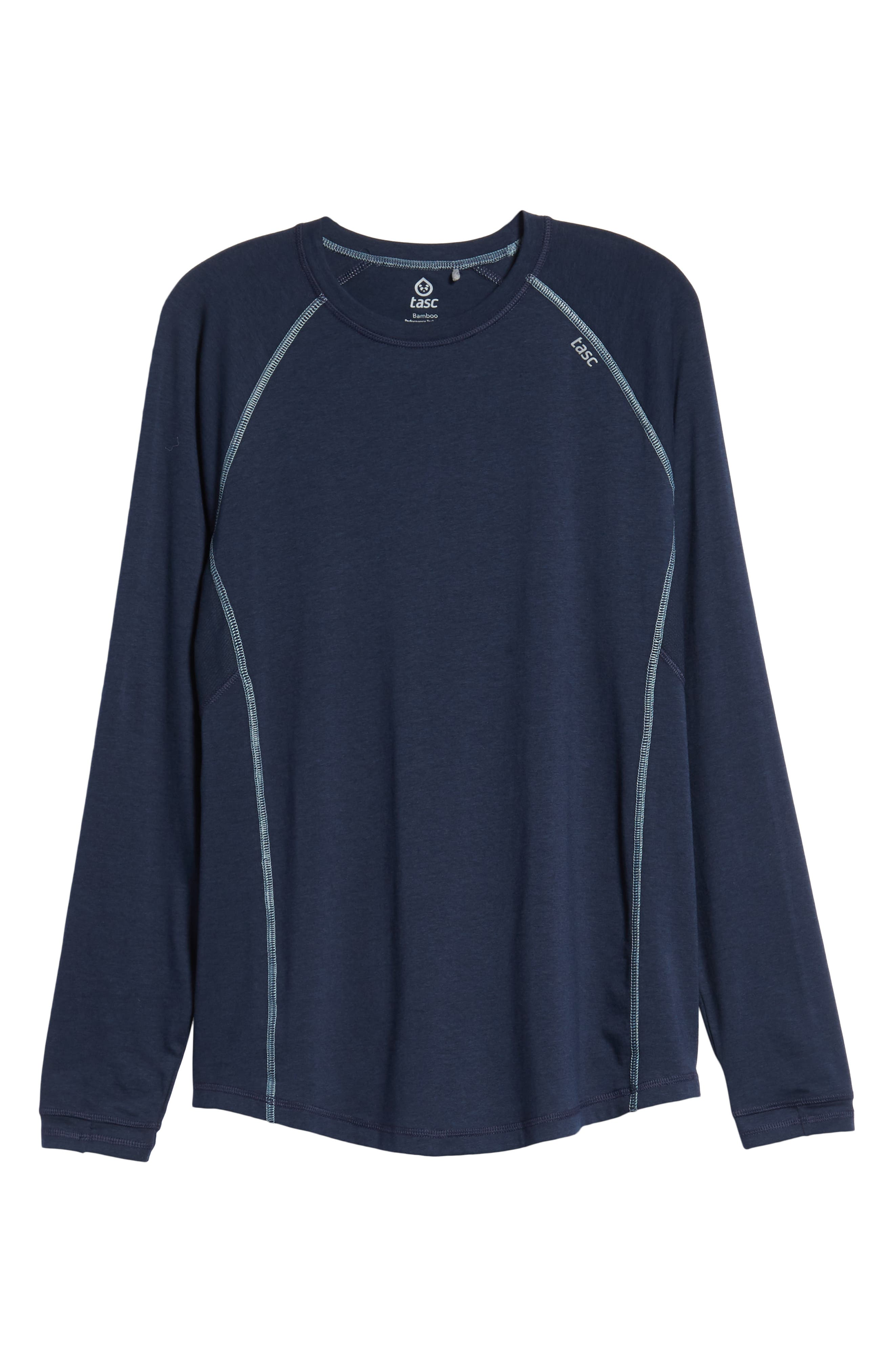 Charge II Long Sleeve T-Shirt,                             Alternate thumbnail 6, color,                             CLASSIC NAVY/ TRANQUILITY SEA
