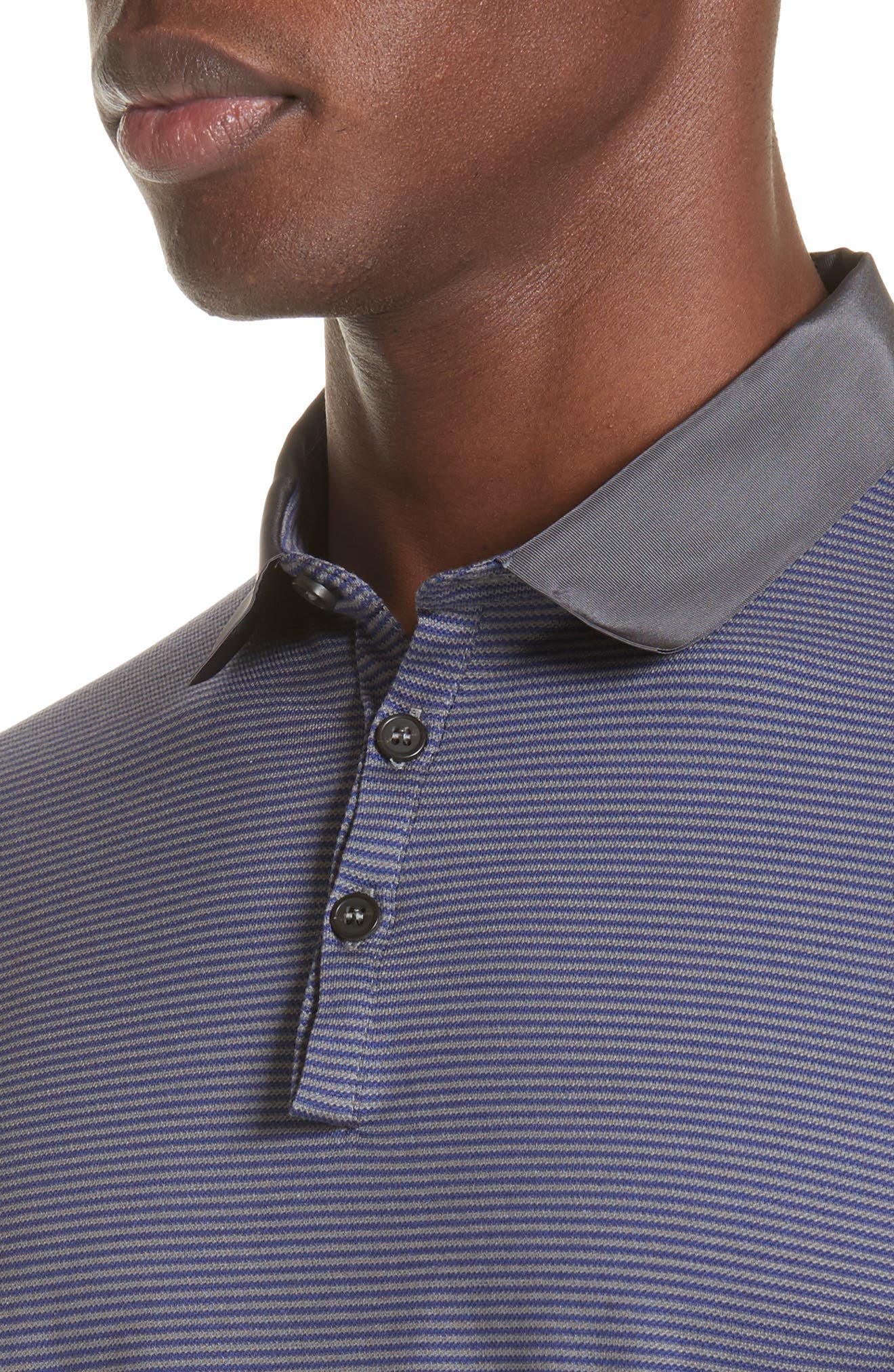 Stripe Polo,                             Alternate thumbnail 4, color,                             BLUE MULTI