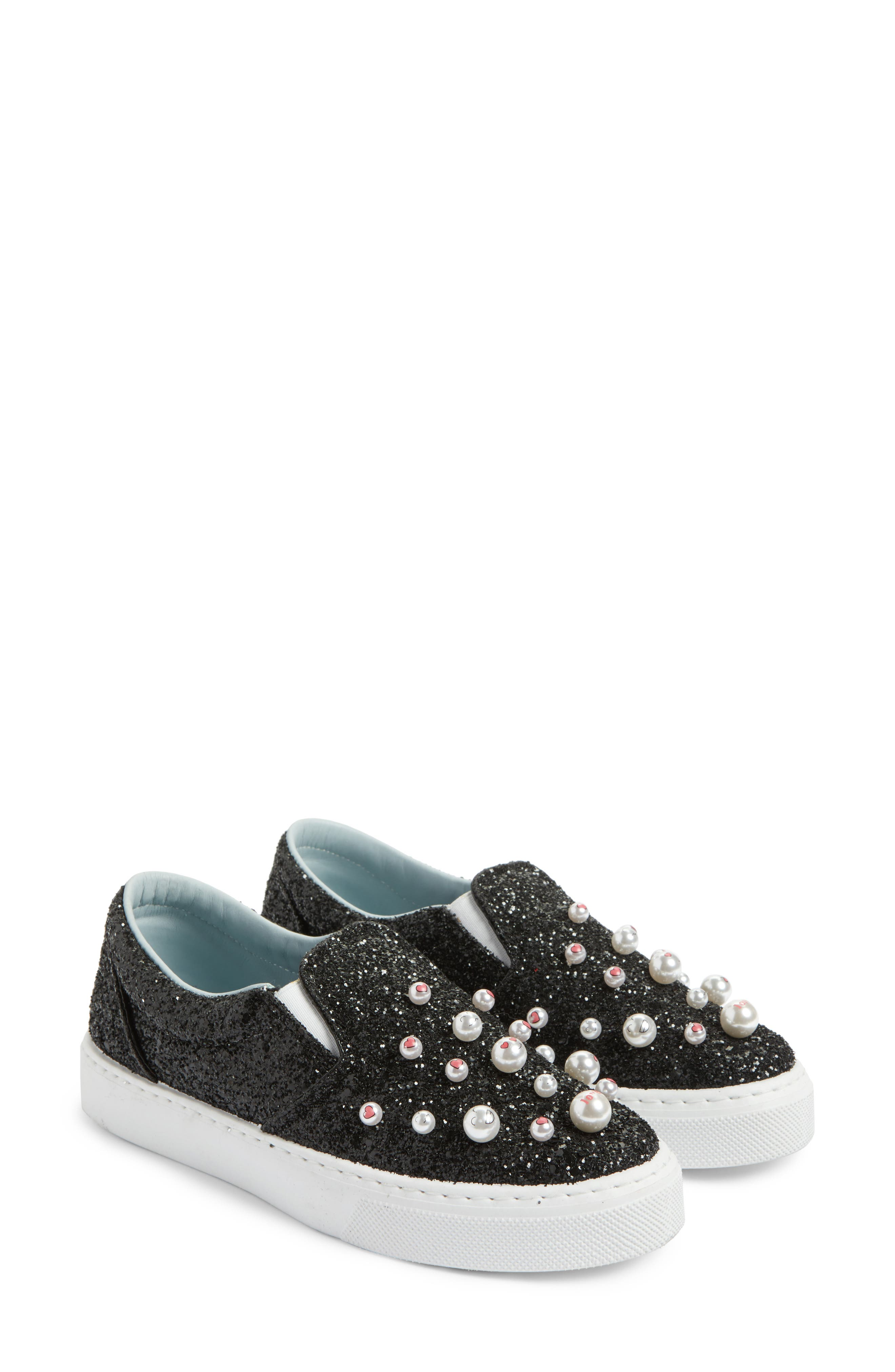 Candies Embellished Slip-On Sneaker,                             Main thumbnail 1, color,                             001