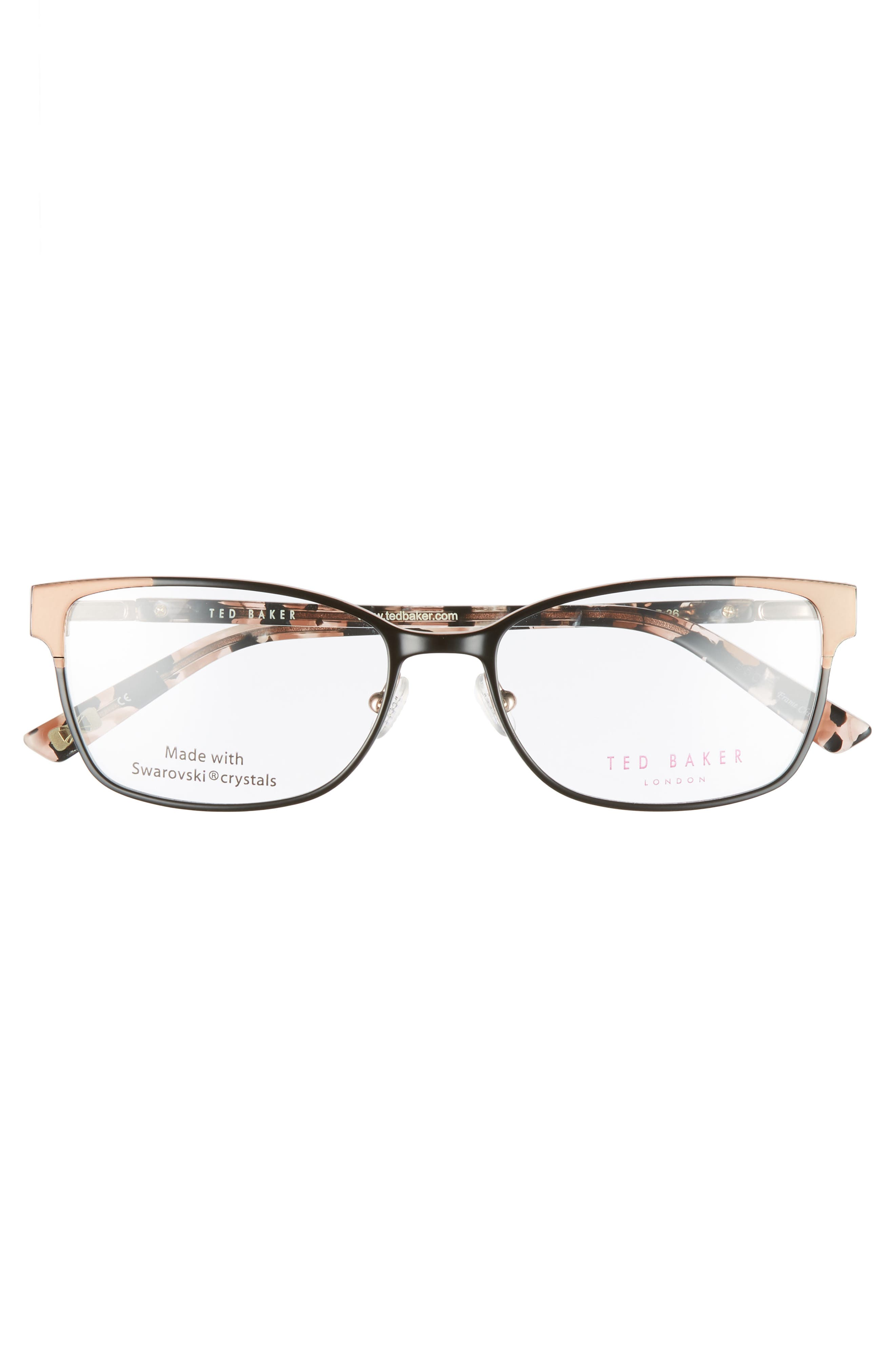 52mm Crystal Rectangular Optical Glasses,                             Alternate thumbnail 3, color,                             001