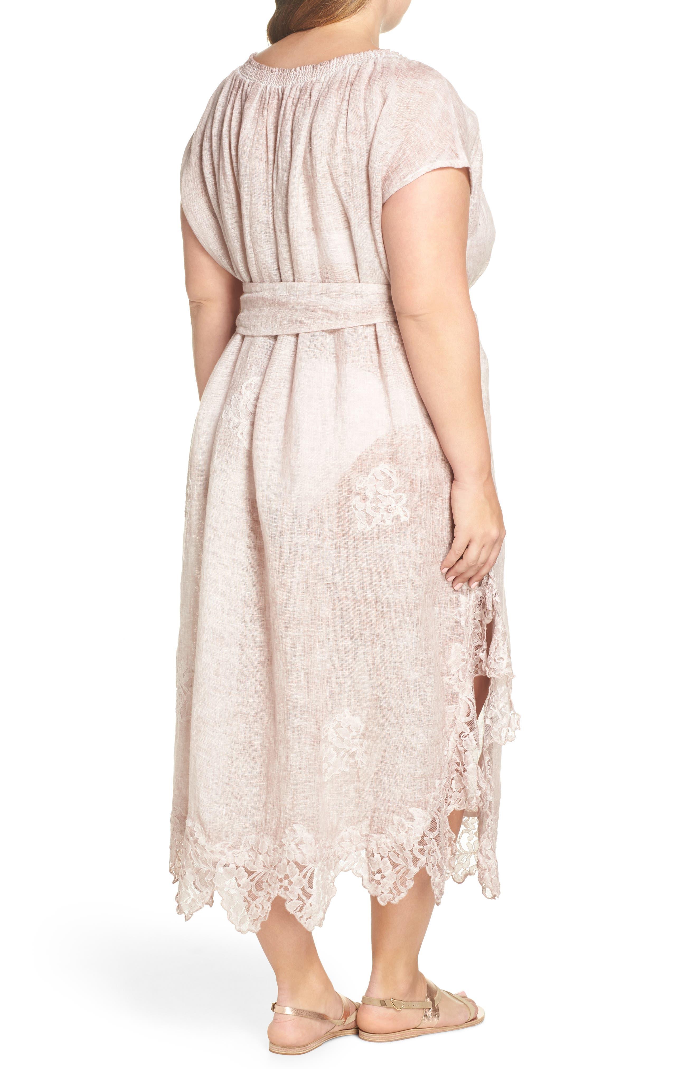 Daisy Linen Cover-Up Dress,                             Alternate thumbnail 2, color,                             652
