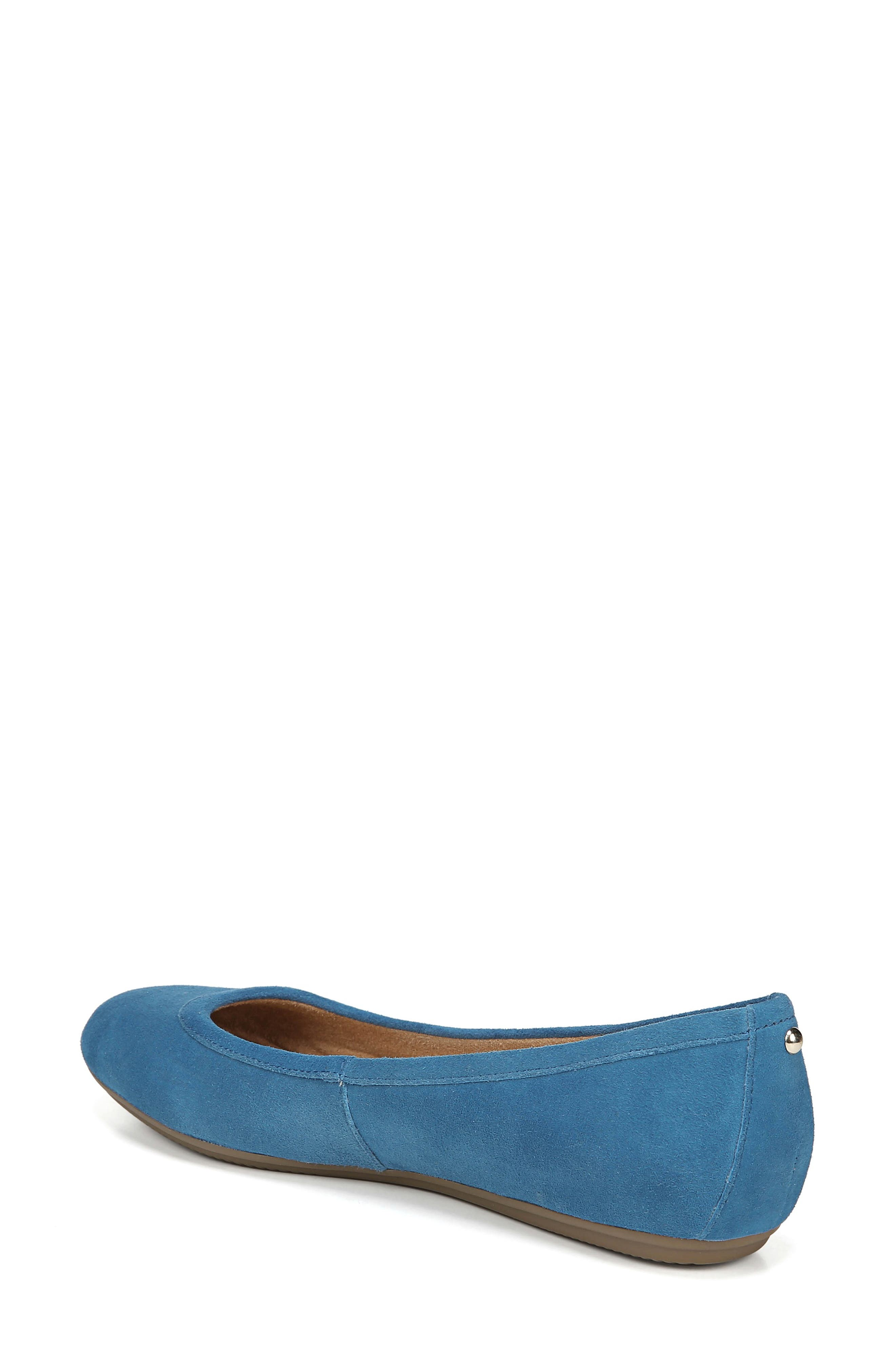 Brittany Flat,                             Alternate thumbnail 2, color,                             ADMIRAL BLUE LEATHER