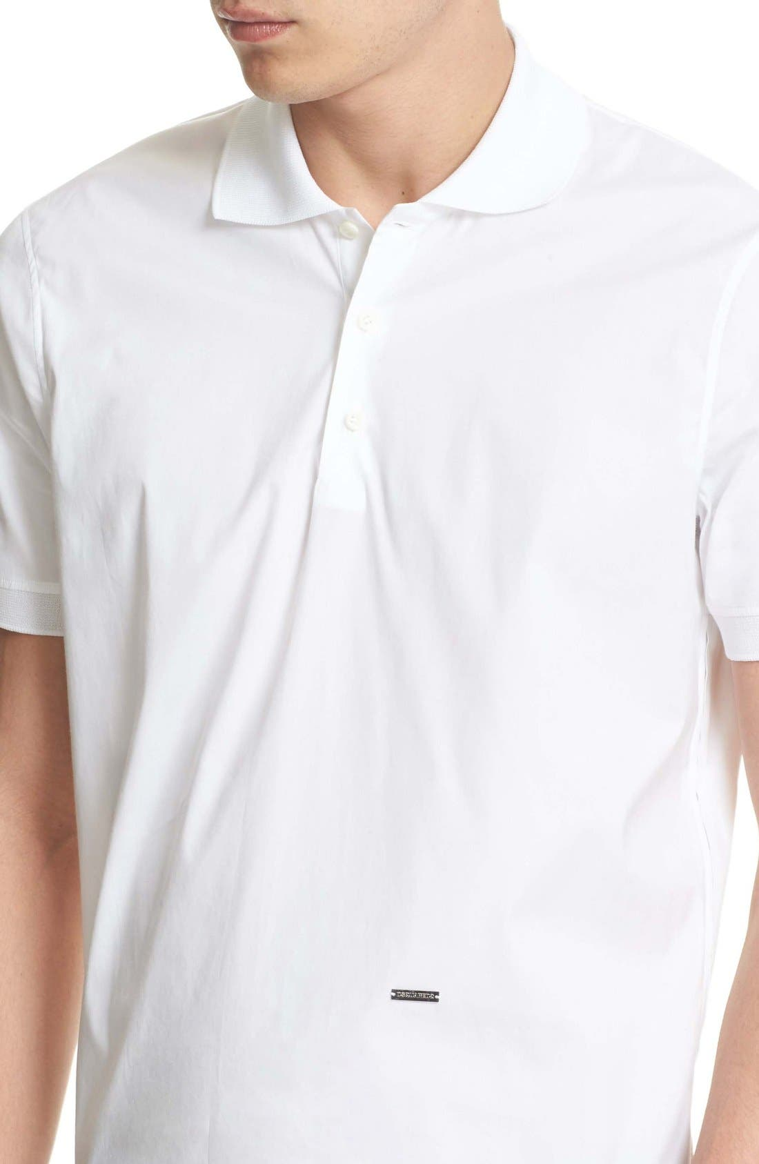 Extra Trim Fit Polo,                             Alternate thumbnail 6, color,                             100