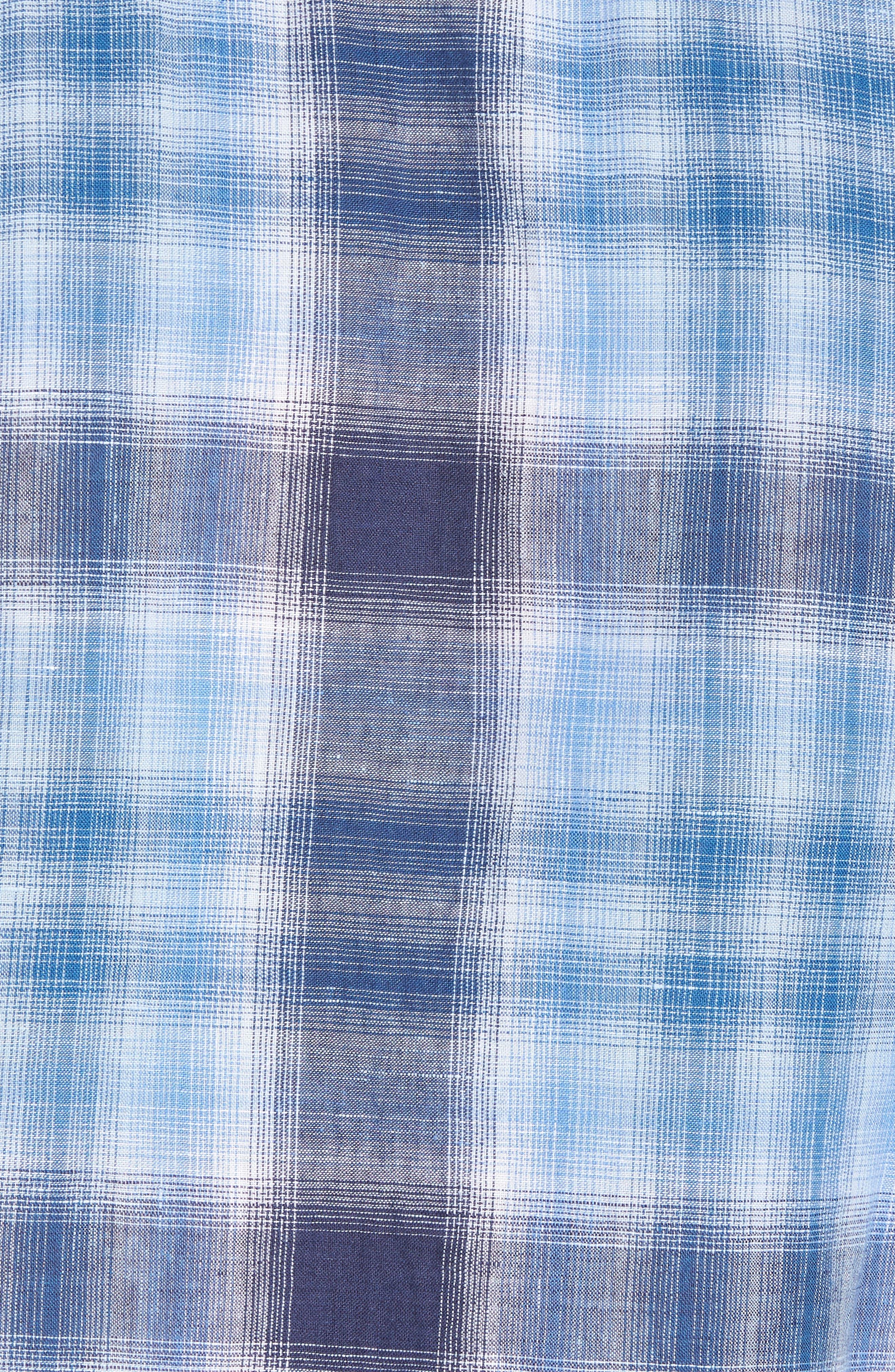 Trestles Linen & Cotton Sport Shirt,                             Alternate thumbnail 5, color,