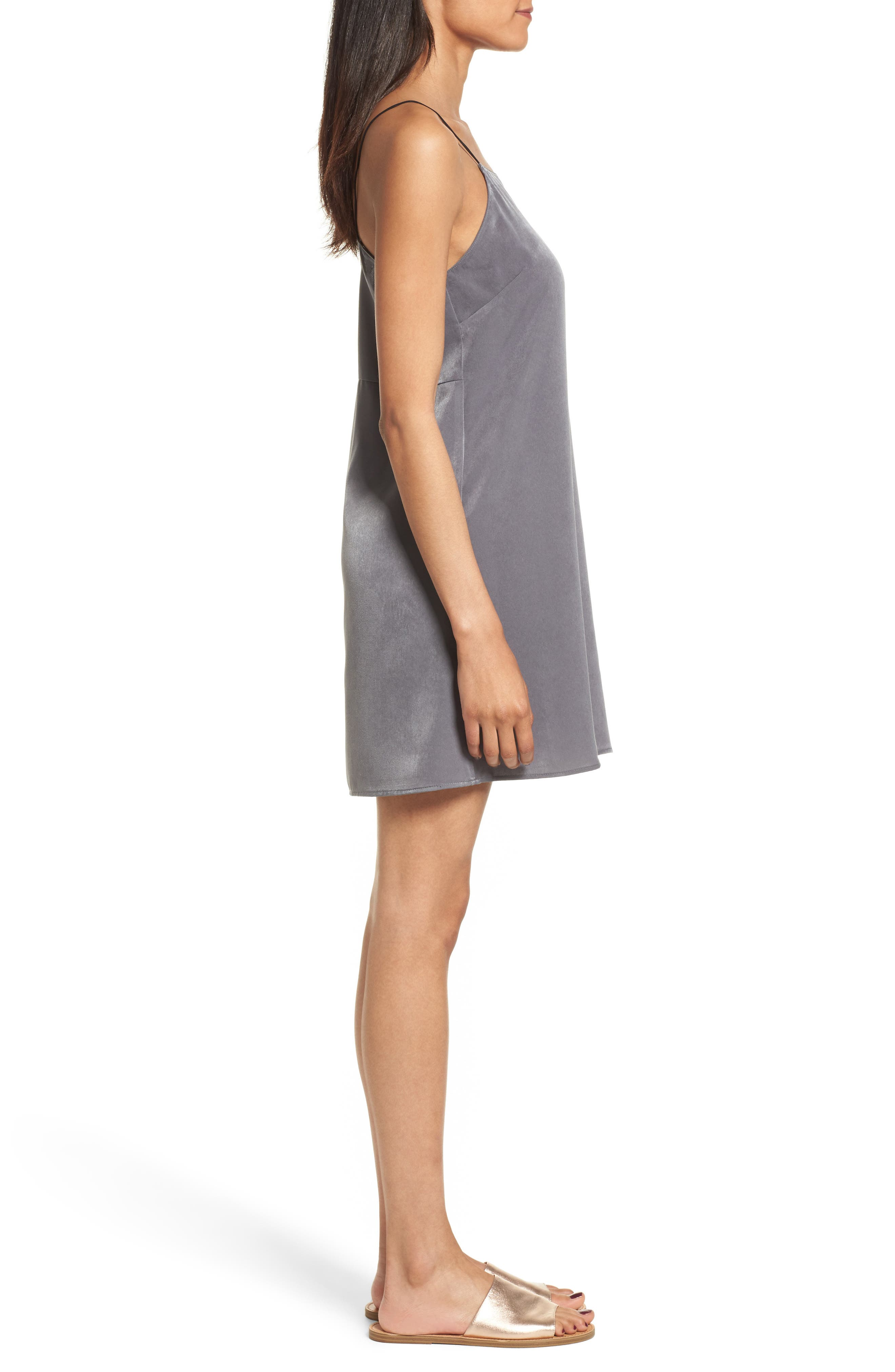 Square Neck Slipdress,                             Alternate thumbnail 3, color,                             060