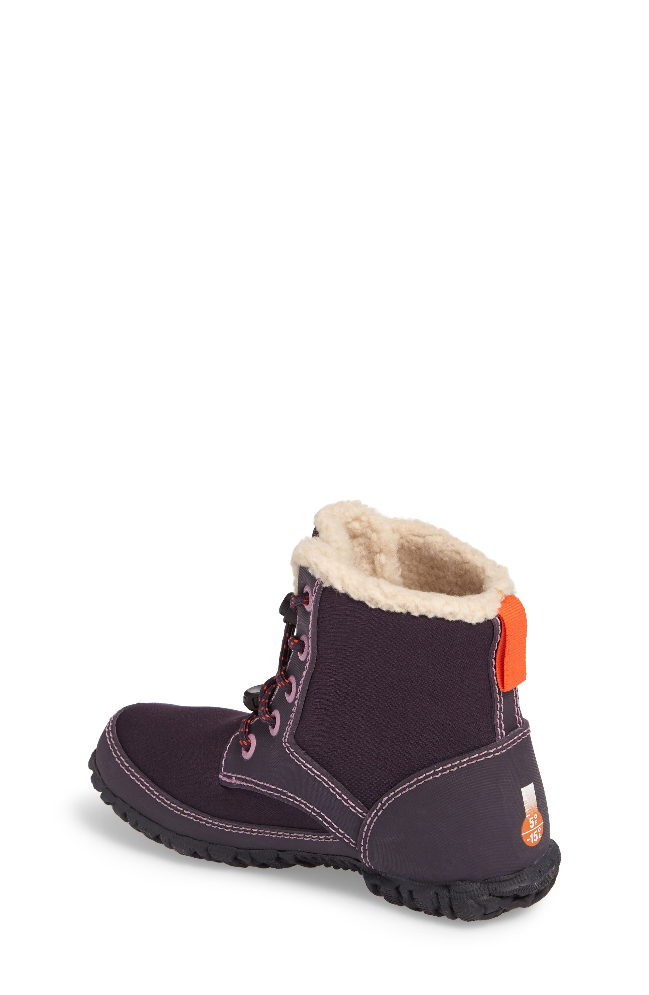 Skyler Faux Fur Insulated Waterproof Boot,                             Alternate thumbnail 2, color,                             EGGPLANT MULTI