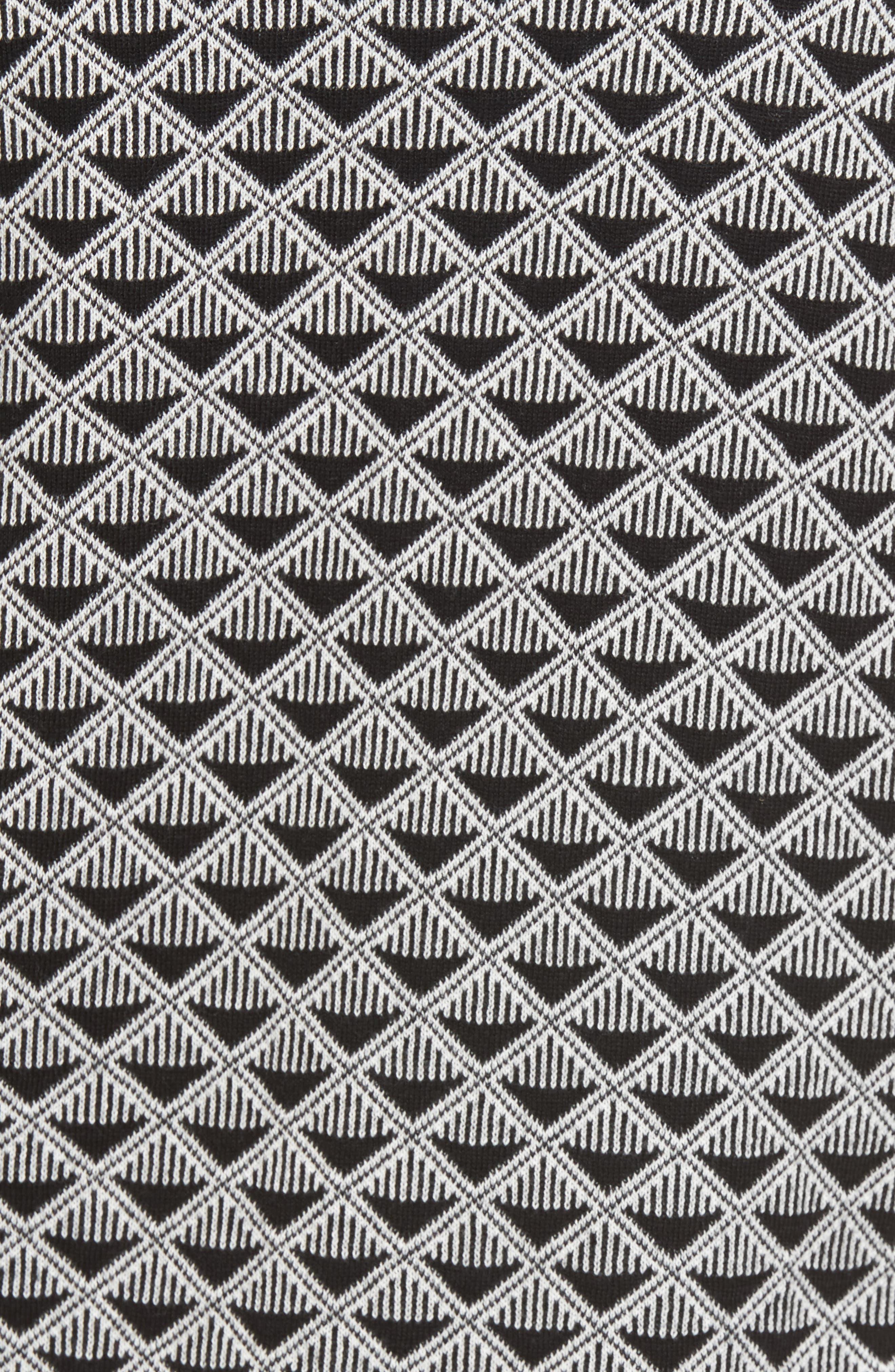 Geometric Jacquard Sweater,                             Alternate thumbnail 5, color,                             010