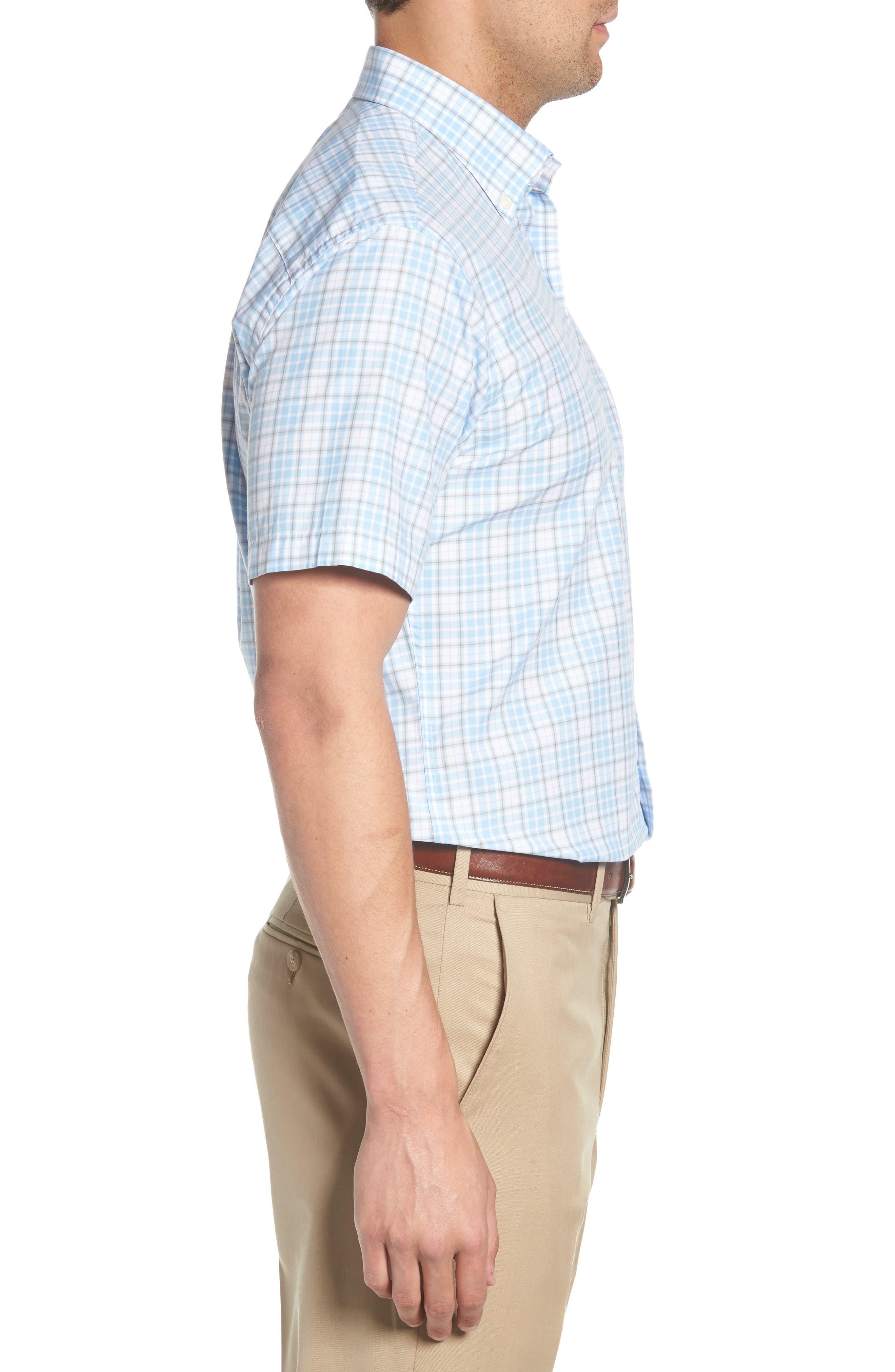 PETER MILLAR,                             Belltown Regular Fit Tartan Sport Shirt,                             Alternate thumbnail 3, color,                             400