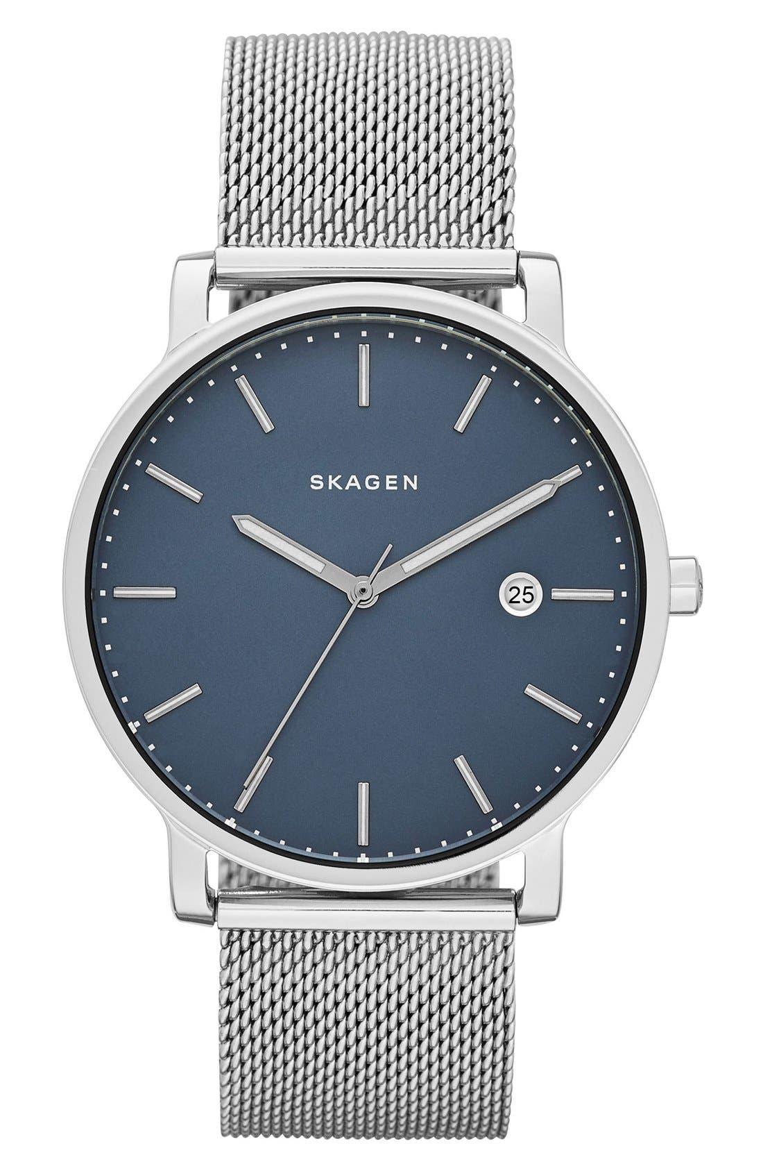 Hagen Round Mesh Strap Watch, 40mm,                         Main,                         color, 040