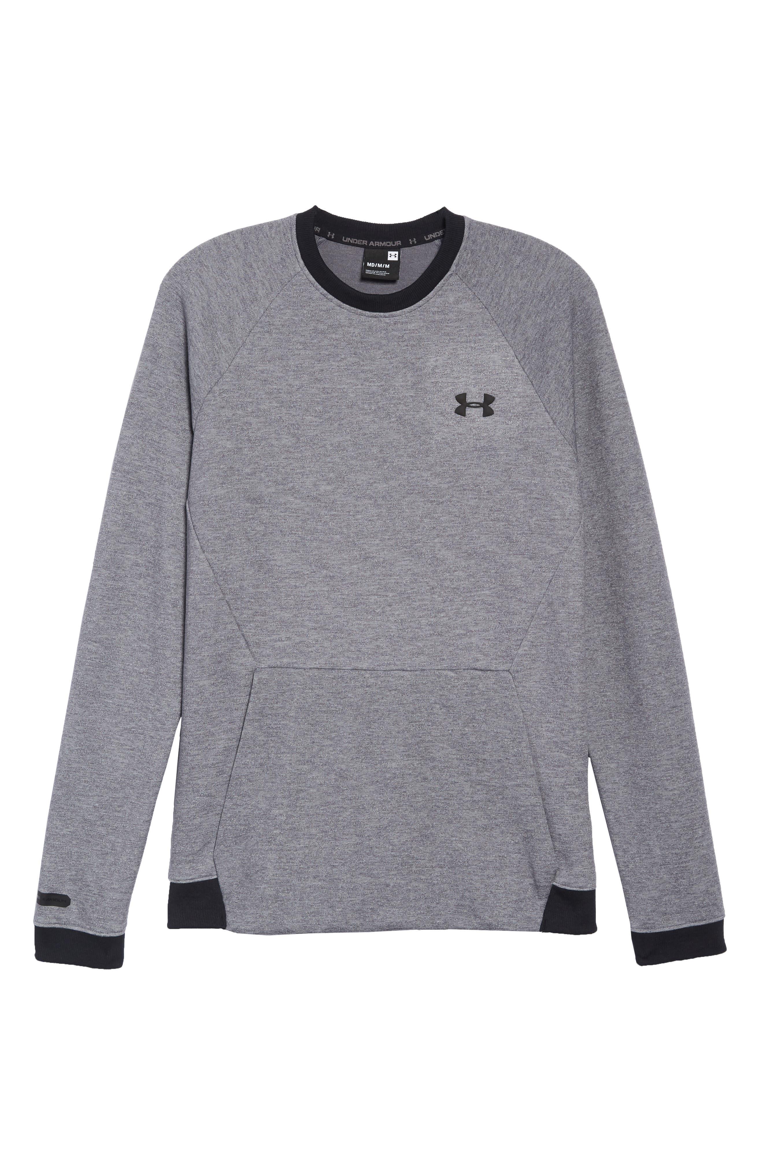 UNDER ARMOUR,                             Sportstyle 2x Crew Sweatshirt,                             Alternate thumbnail 6, color,                             STEEL