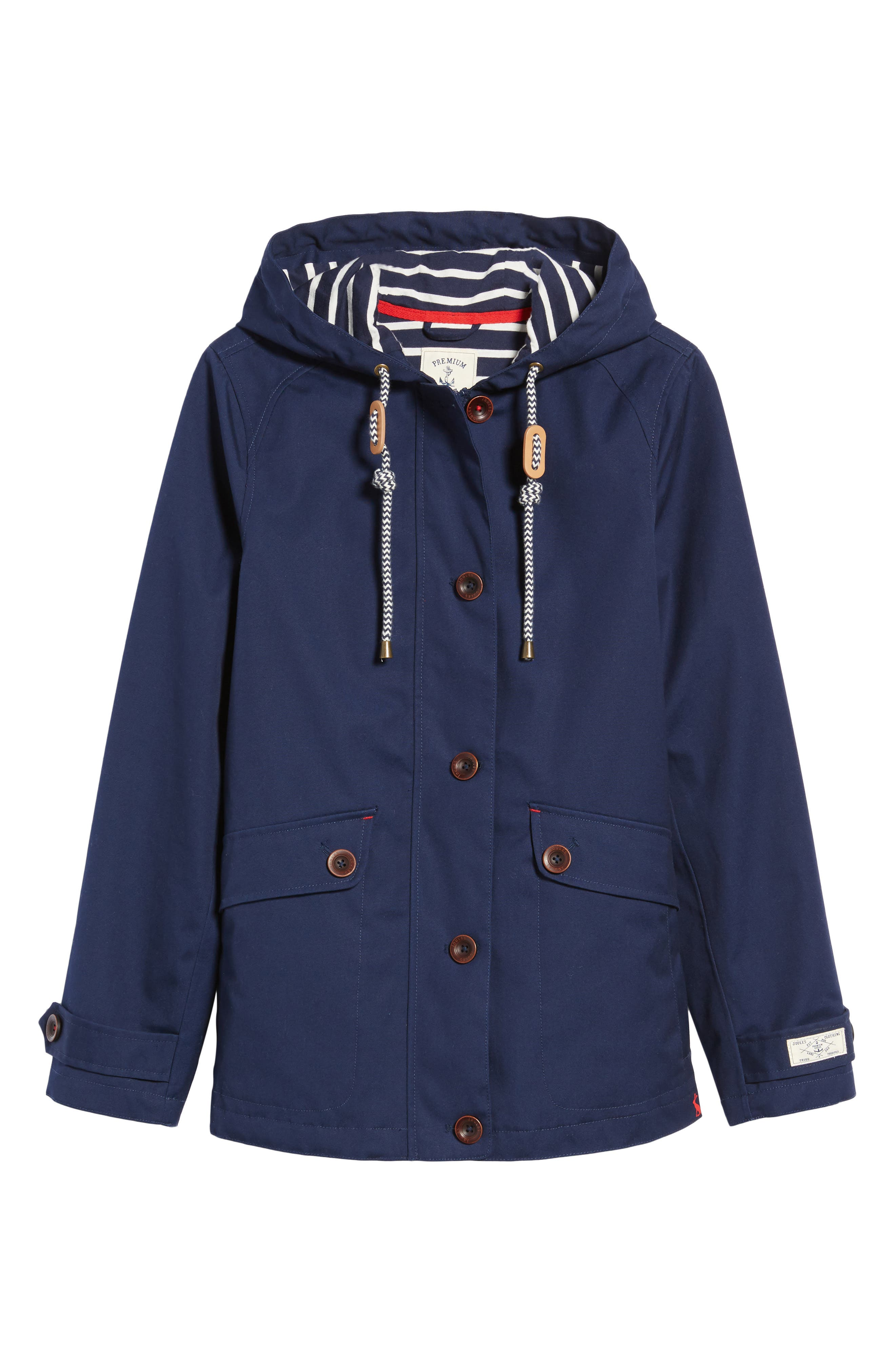 Right as Rain Waterproof Hooded Jacket,                             Alternate thumbnail 6, color,                             FRENCH NAVY