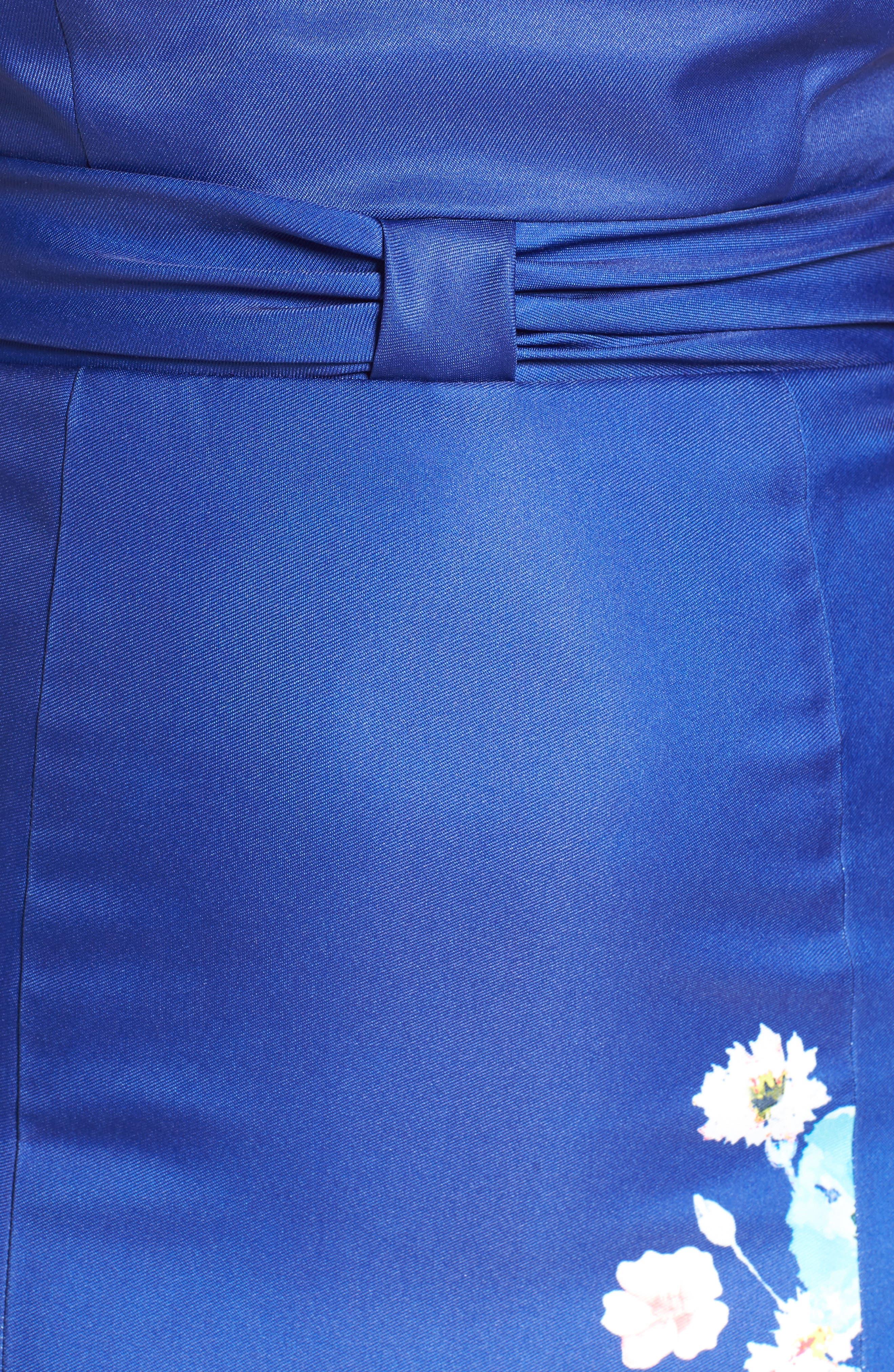 Floral A-Line Ballgown,                             Alternate thumbnail 5, color,                             400