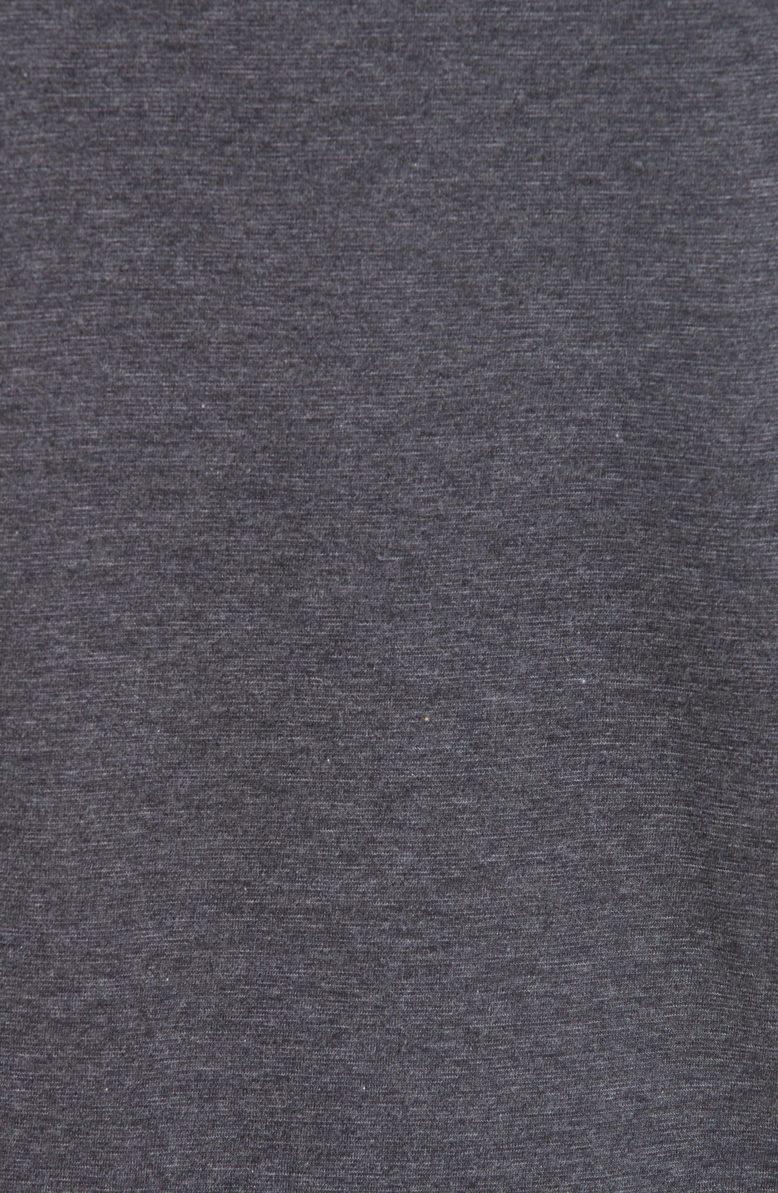 Wool & Cotton Long Sleeve Polo Shirt,                             Alternate thumbnail 5, color,                             CHARCOAL