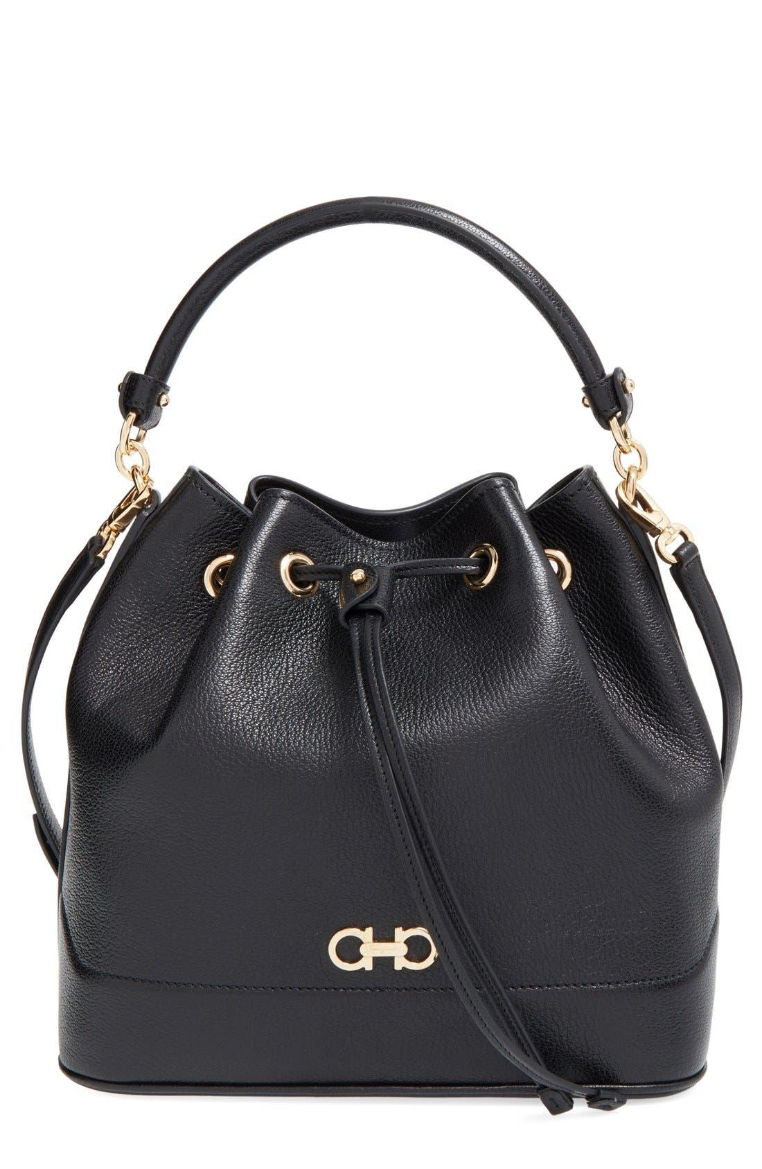 'Mille' Bucket Bag, Main, color, 001