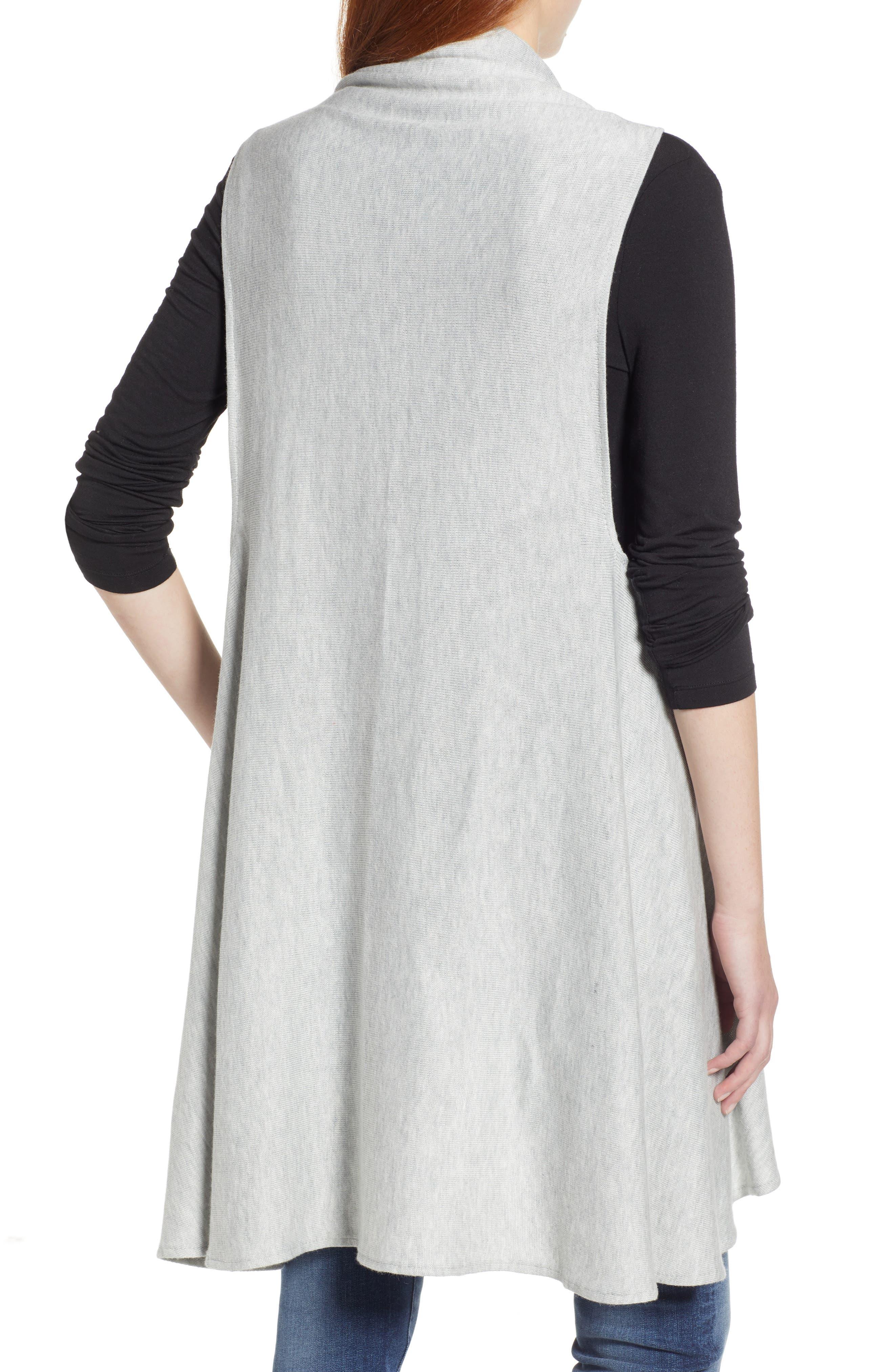 Essential Knit Vest,                             Alternate thumbnail 2, color,                             GREY SOFT HEATHER