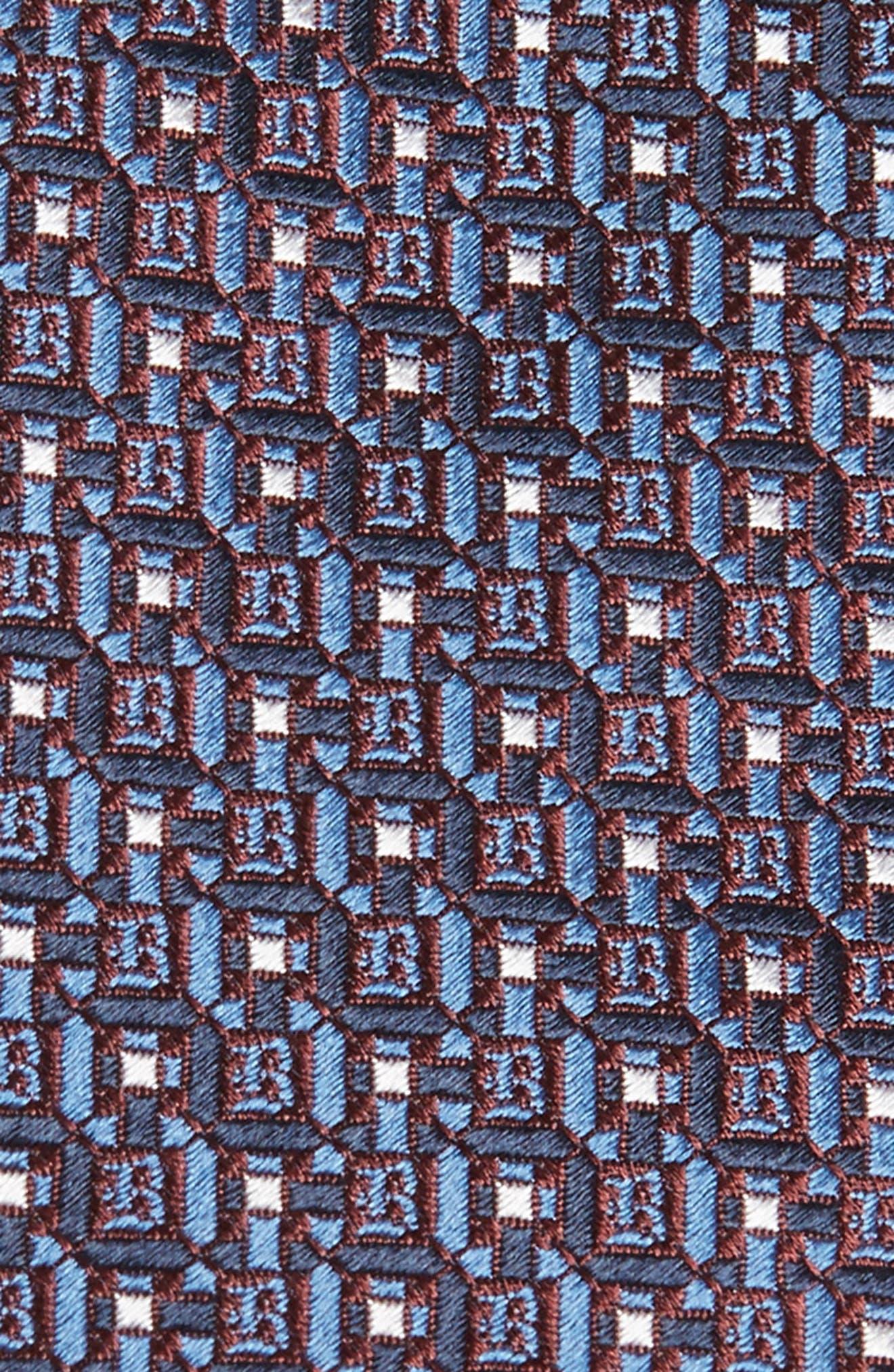 Geometric Silk Tie,                             Alternate thumbnail 2, color,                             410